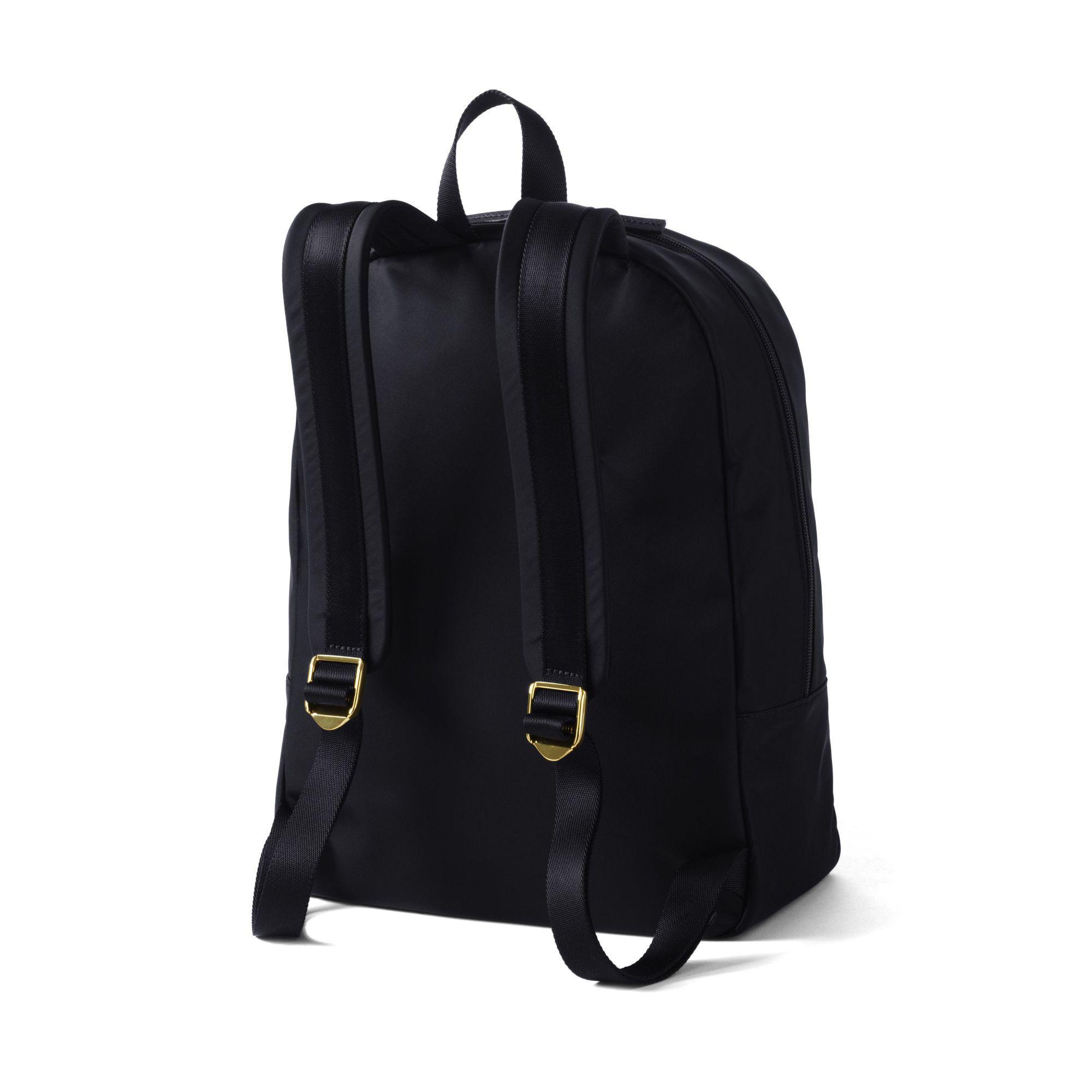 Lands' End Synthetic Black Nylon Backpack
