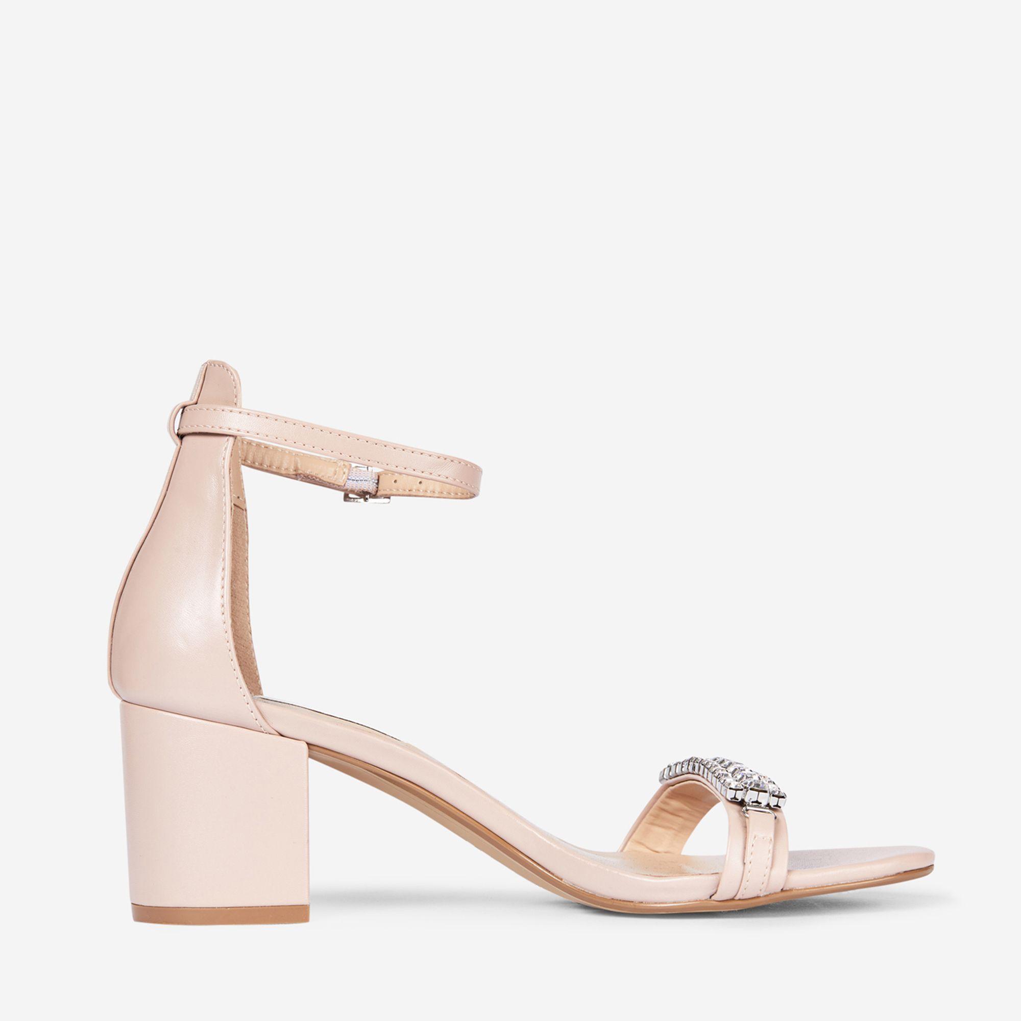5c258f1af5c Dorothy Perkins Showcase Nude Polyurethane Sapphire Sandals in ...