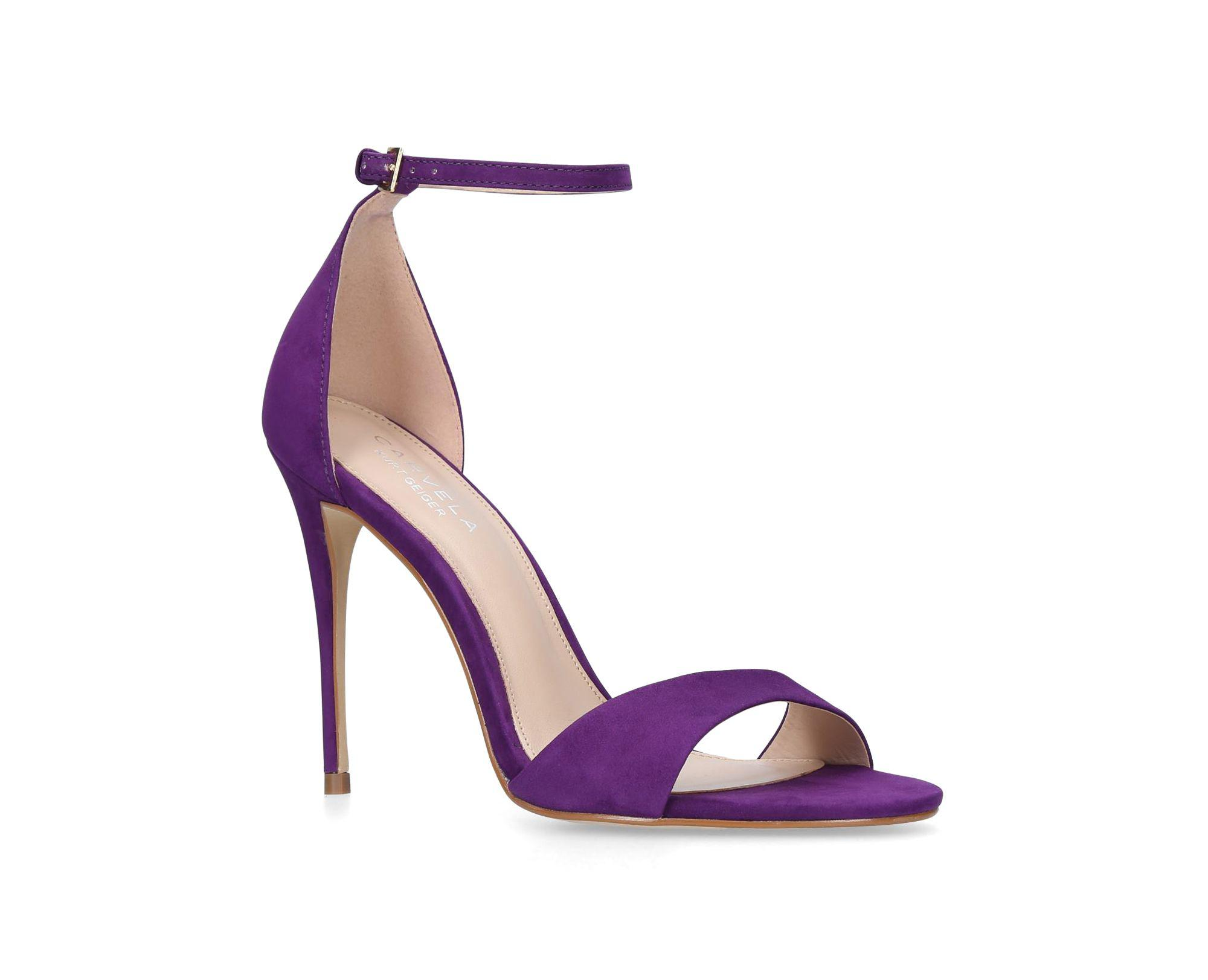 6464b139ce20 Carvela Kurt Geiger Purple  glimmer  High Heel Sandals in Purple - Lyst