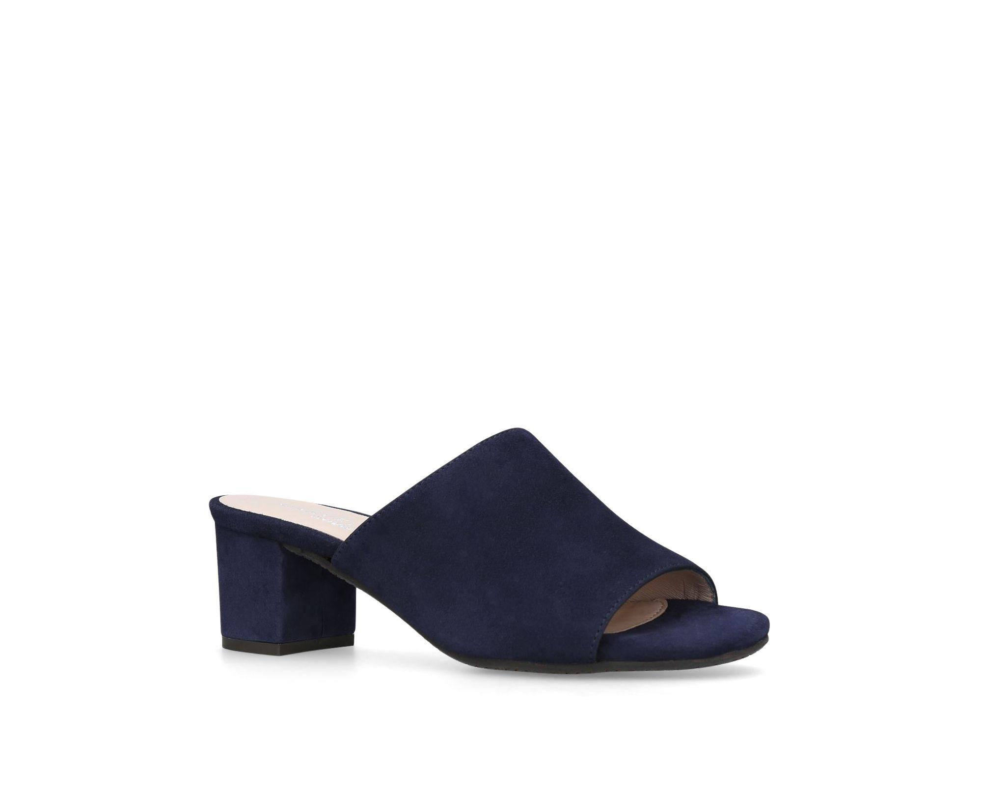 sale websites Blue Abby mid heel mules free shipping low price outlet geniue stockist OmGhHqbM