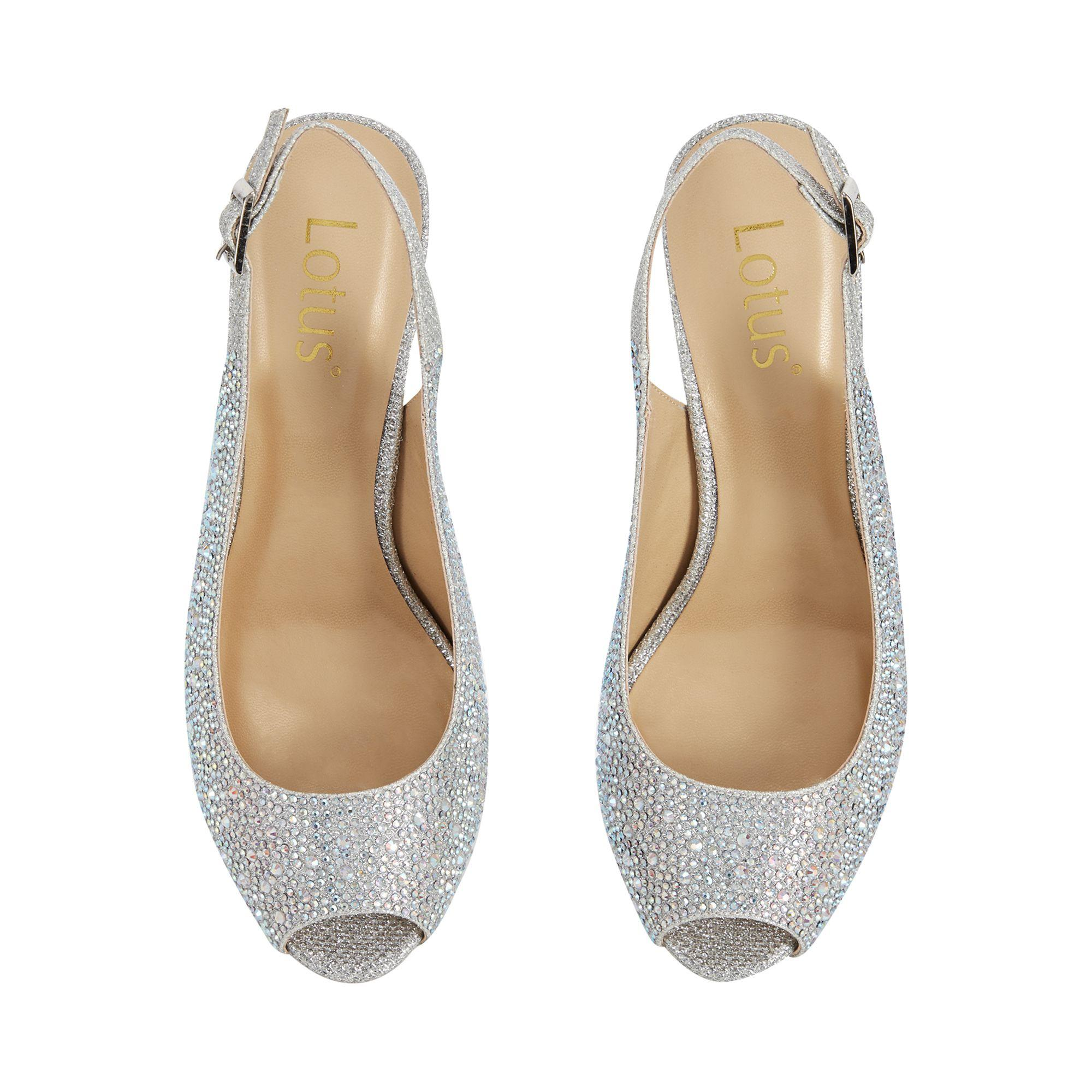 992d160fc86 Women's Metallic Diamante 'astro' High Stiletto Heel Slingbacks