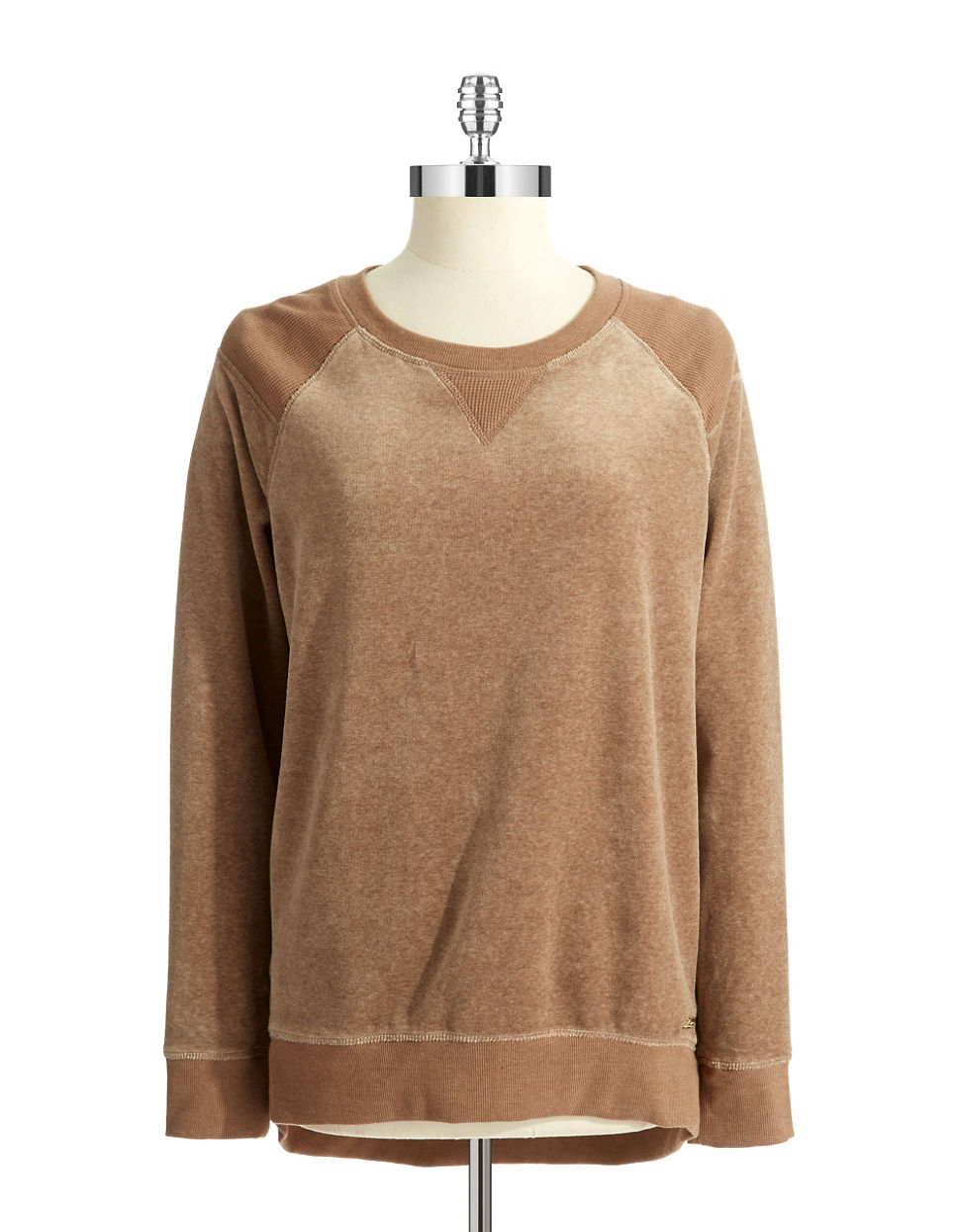 calvin klein plush pullover in brown lyst. Black Bedroom Furniture Sets. Home Design Ideas