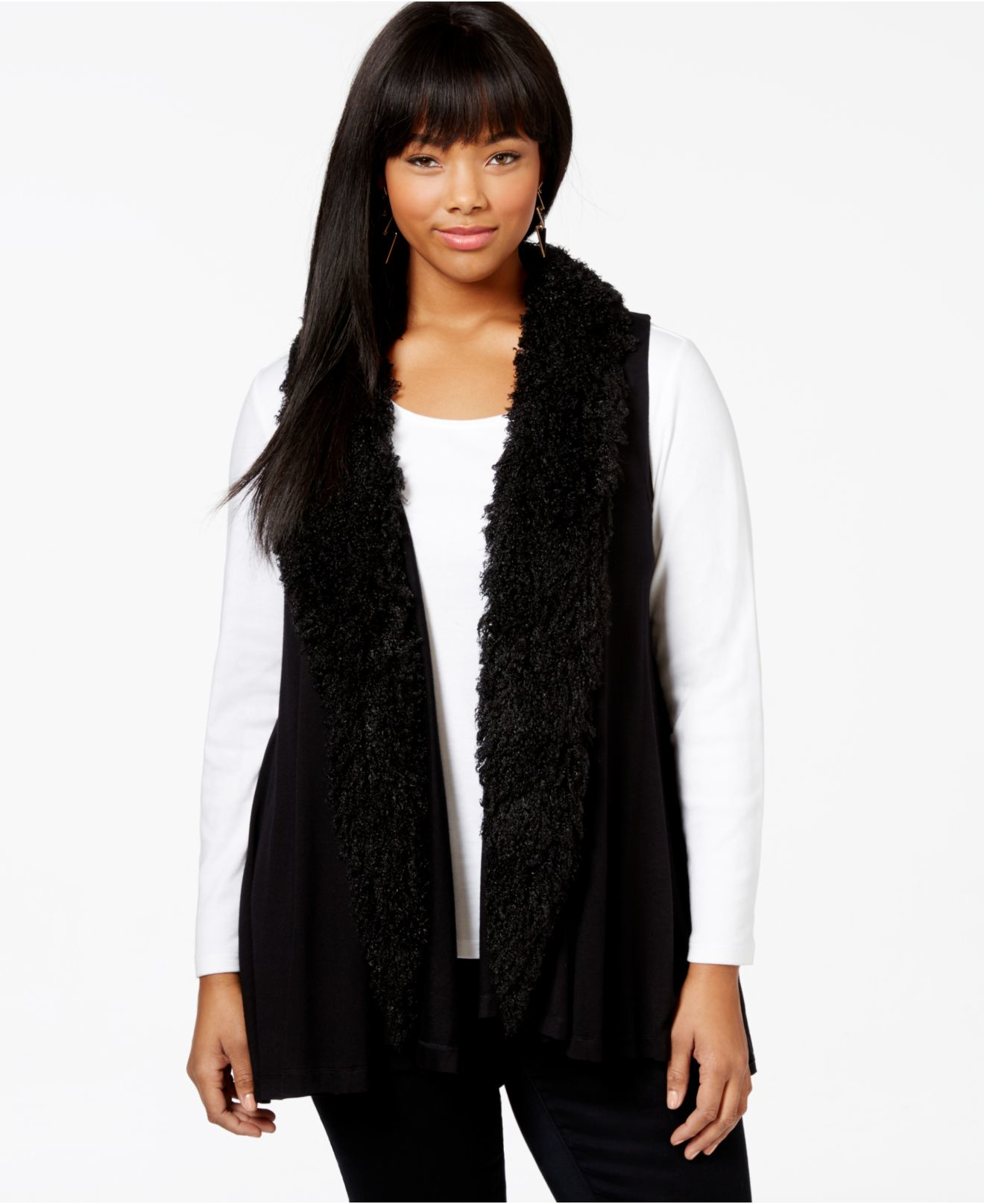 100  [ Ladies Vest Fur Collar ] | Jackets U0026 Vests Mccall ...