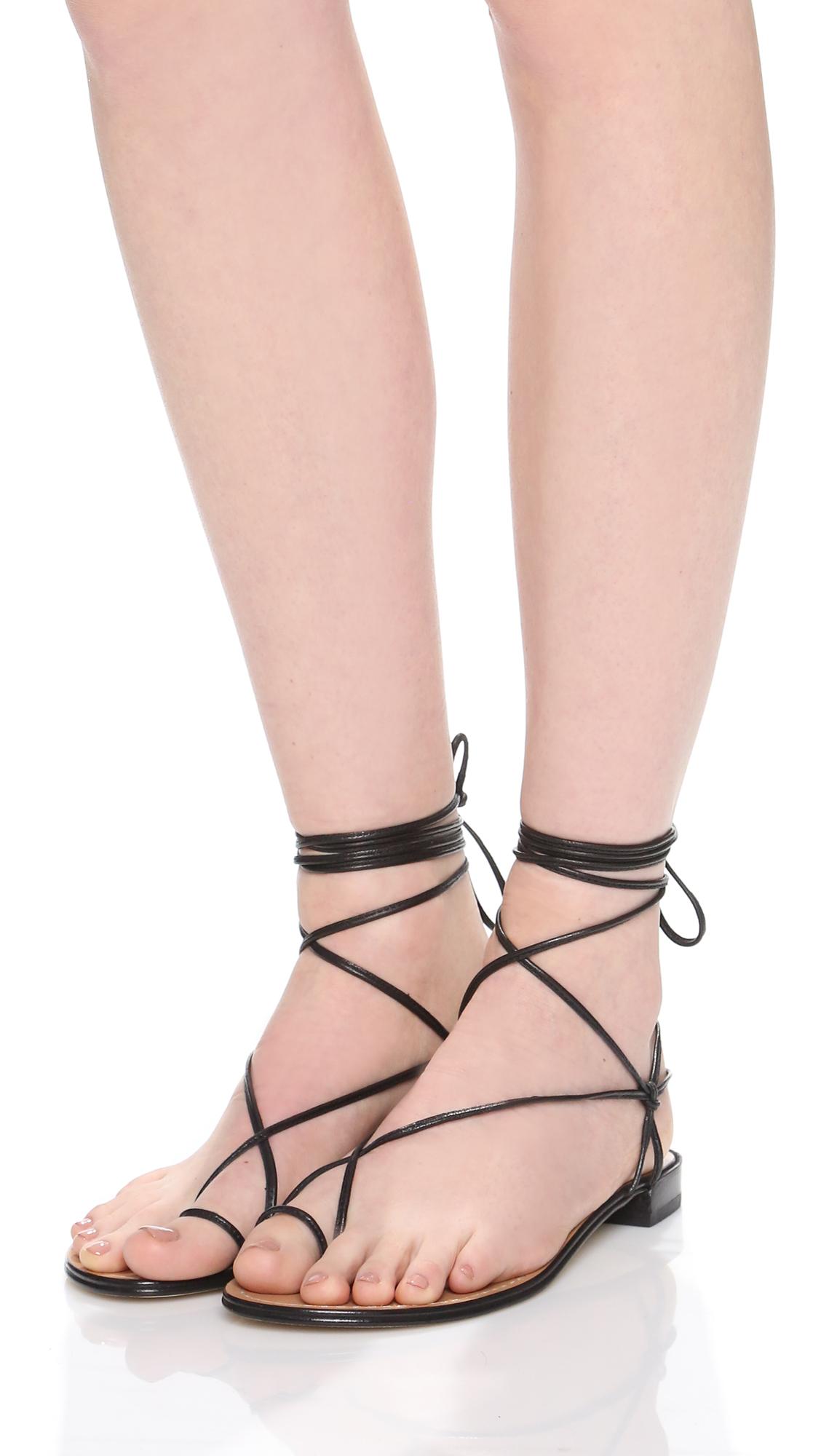 Lyst Stuart Weitzman Nieta Sandals In Black