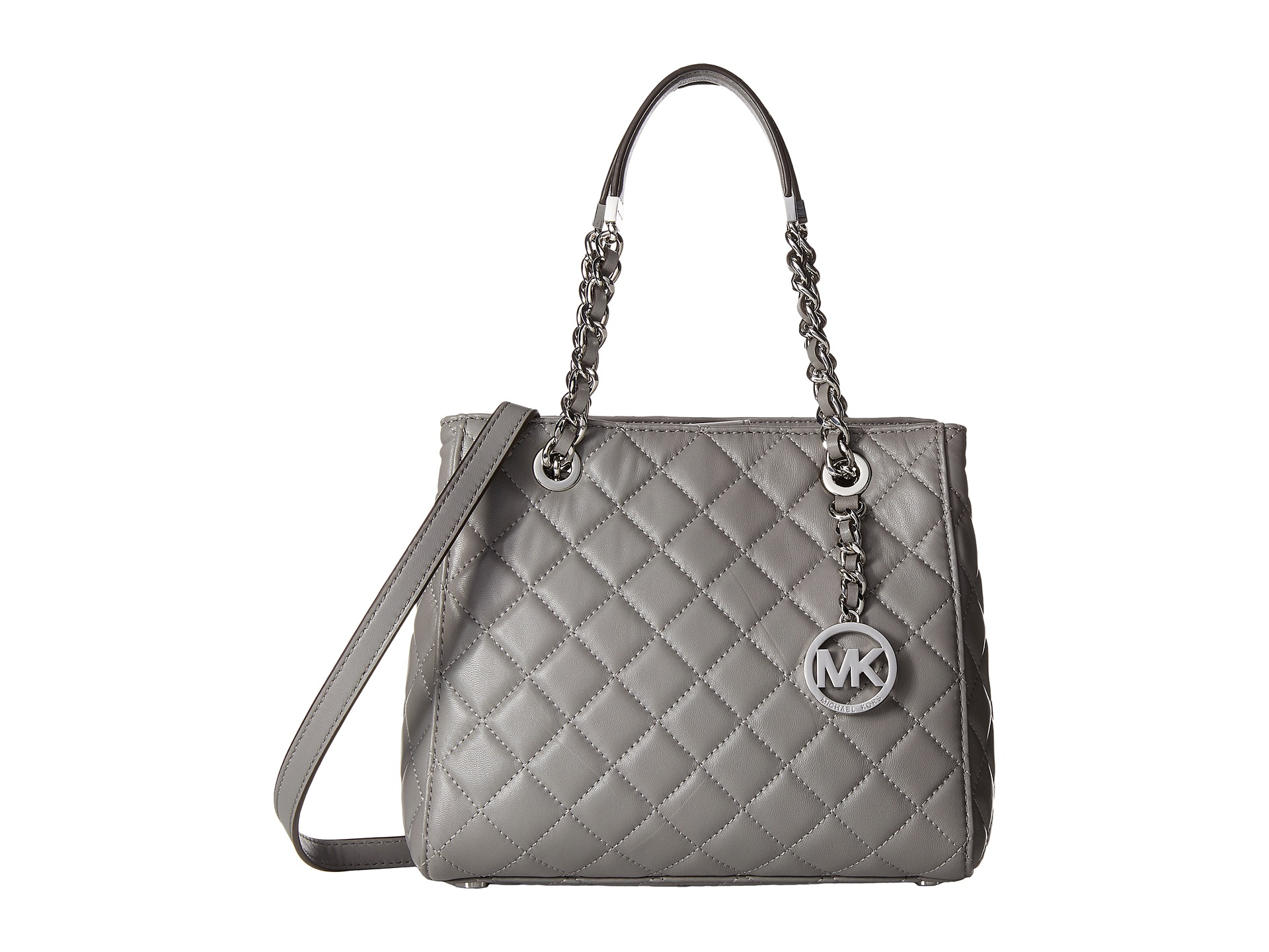 26a5355b84877 ... purchase lyst michael michael kors susannah small north south tote in  gray b2467 3382f