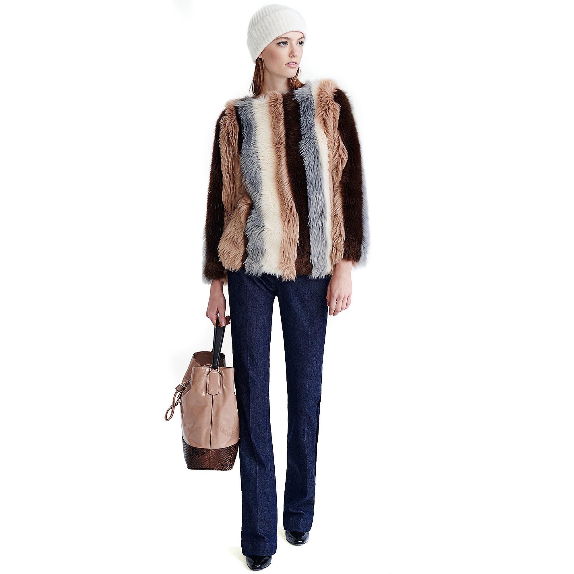 tommy hilfiger hilfiger collection fur stripe pullover in. Black Bedroom Furniture Sets. Home Design Ideas