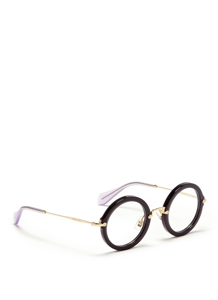 Miu Miu Glasses Black 04lv Butterfly Sunglasses