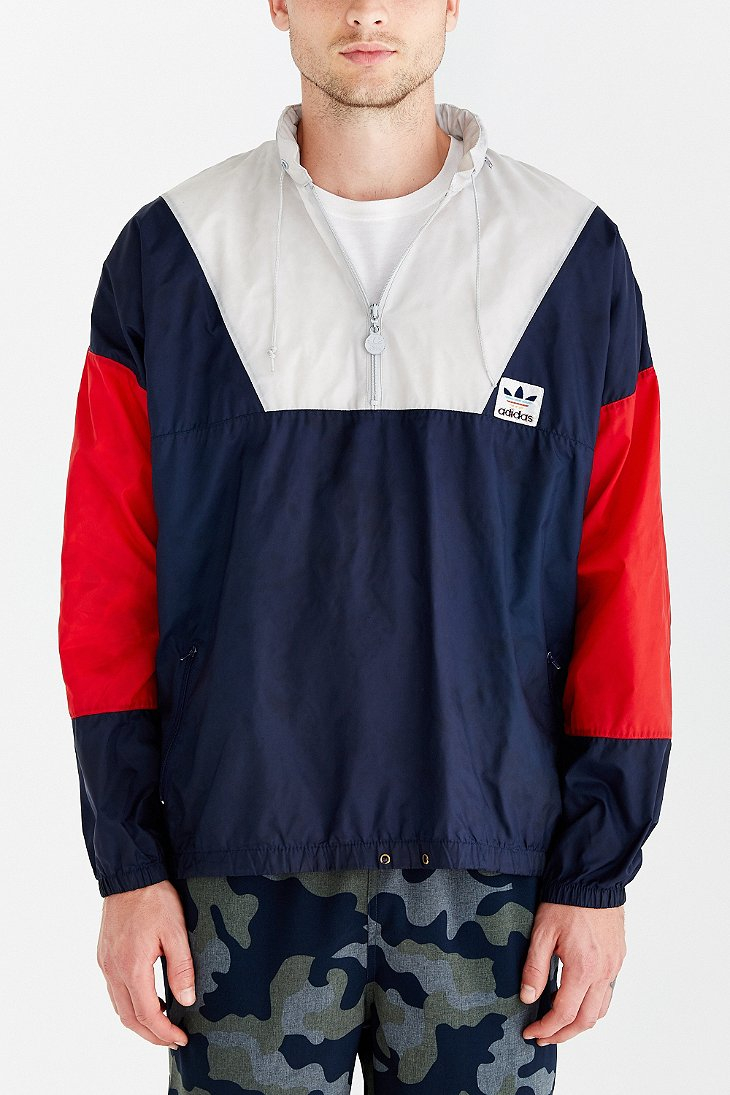 17e3f584a3b3 Lyst - Without Walls Vintage Adidas Colorblock Windbreaker Jacket in ...