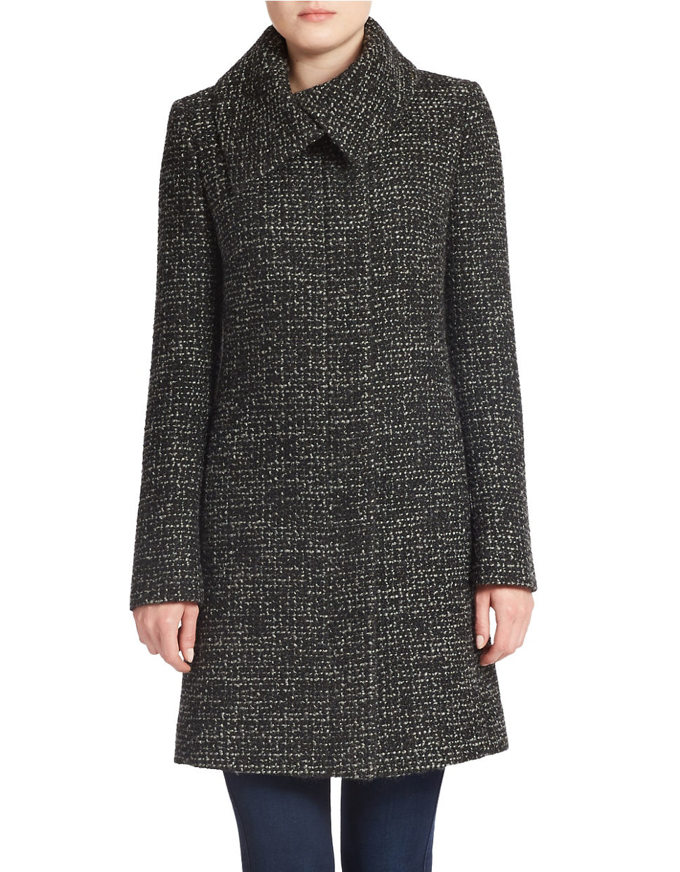jones new york petite chunky tweed wool