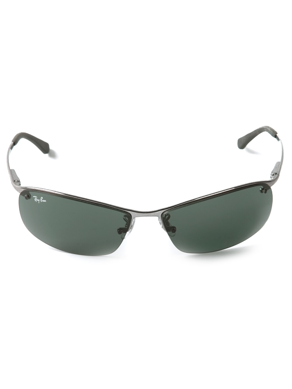 Ray Ban Oval Shape Sunglasses In Metallic For Men Lyst