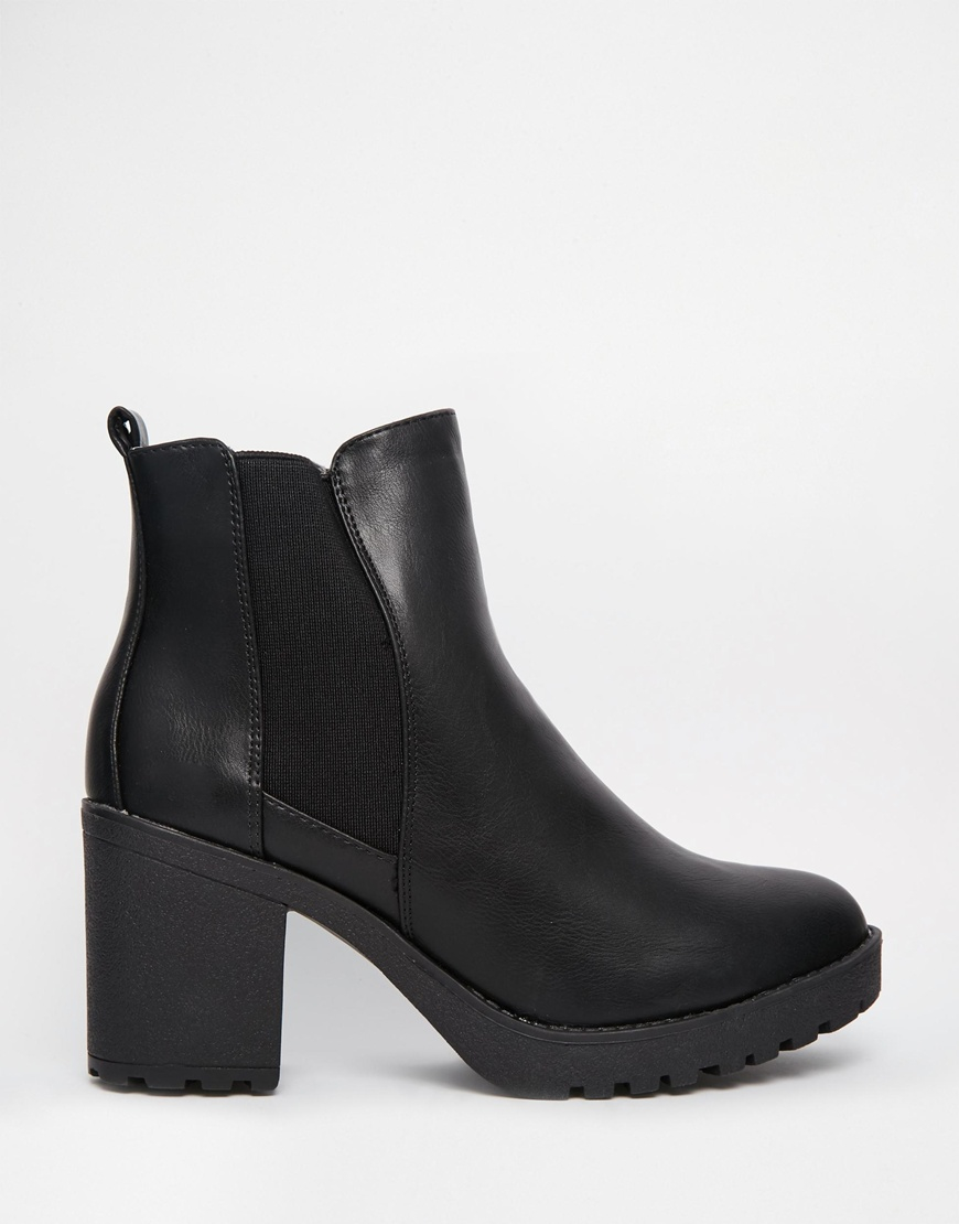 Oasis Heeled Ankle Boots in Black - Lyst