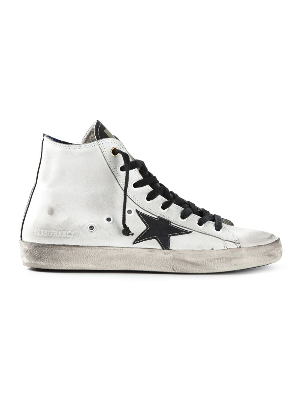 golden goose deluxe brand francy high top sneakers in white lyst. Black Bedroom Furniture Sets. Home Design Ideas