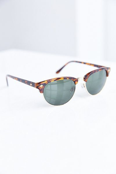 Glasses Frames Urban Outfitters : Urban outfitters Retro Slim Half-frame Sunglasses in Brown