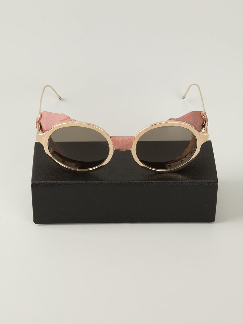 Round Gold Frame Sunglasses By Thom Browne : Thom browne Round Frame Sunglasses in Metallic Lyst