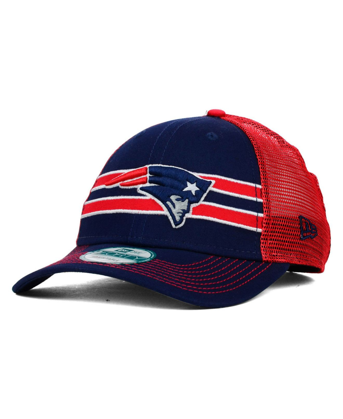wholesale dealer 00546 6d675 Lyst - Ktz New England Patriots Frontband Trucker 9Forty Cap in Blue ...