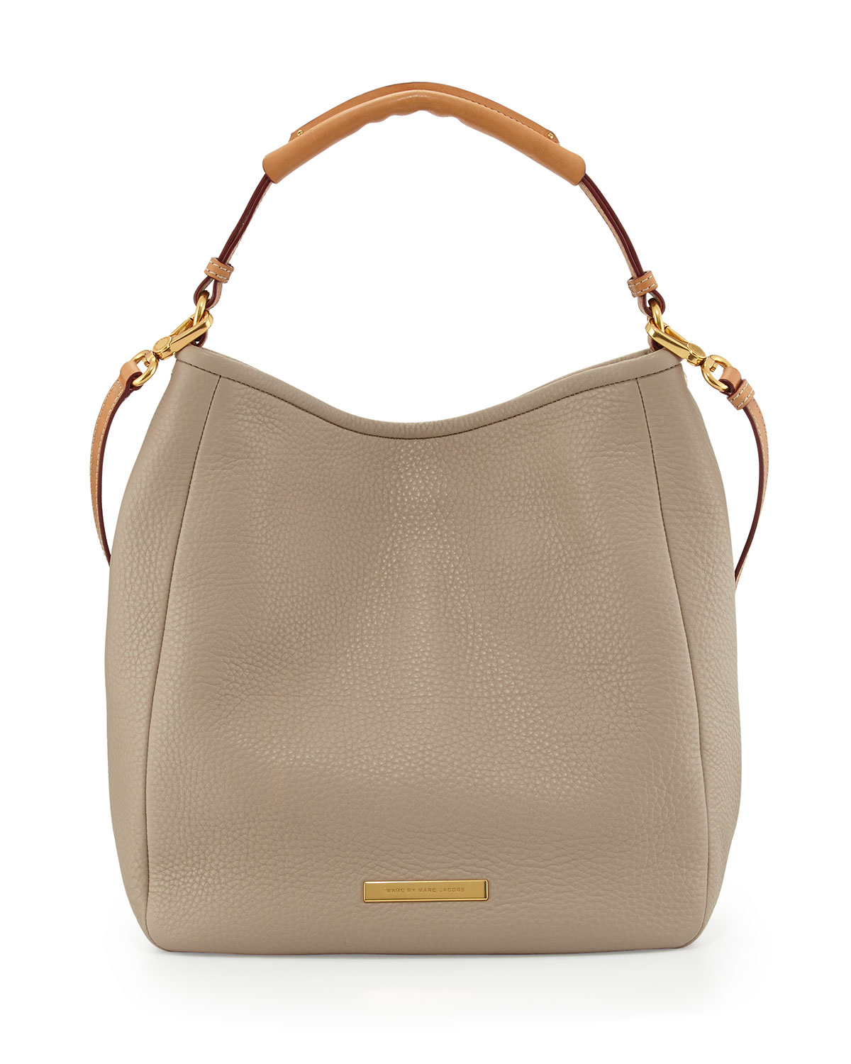 marc by marc jacobs softy leather saddle hobo bag creme in beige creme lyst. Black Bedroom Furniture Sets. Home Design Ideas
