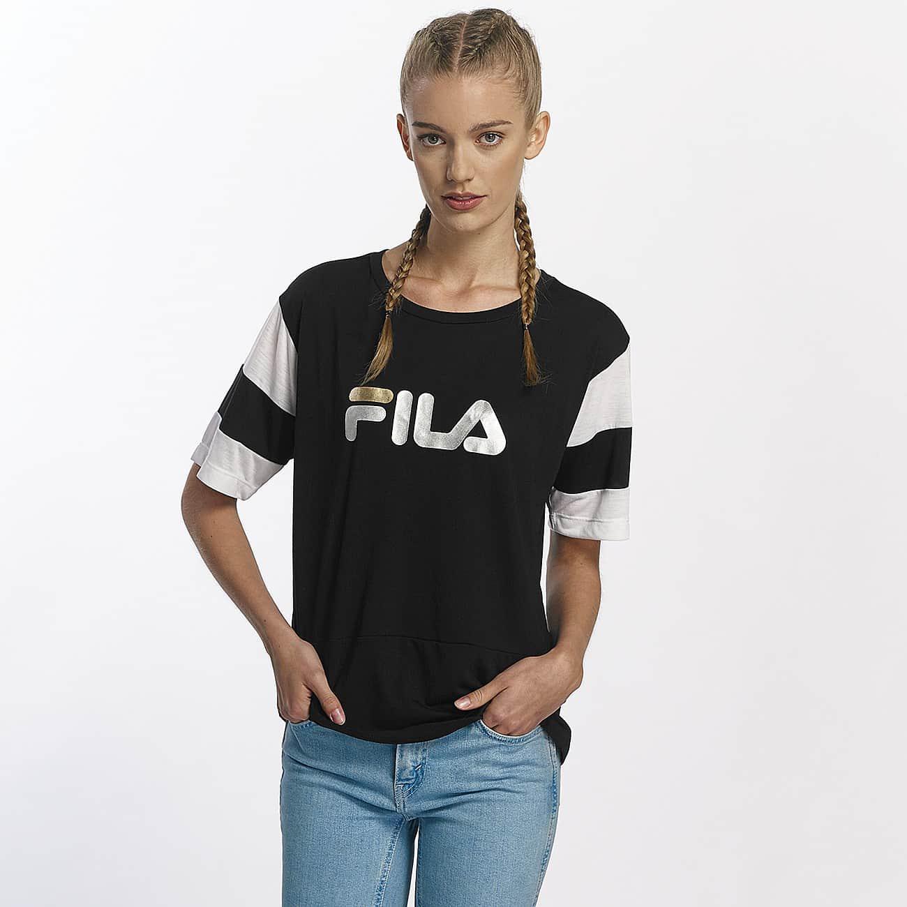 Fila. Women's Black Wo T-shirt Petite Isao Blocked