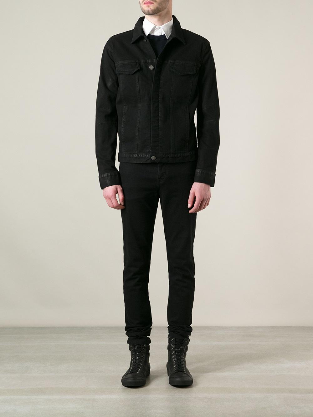 Helmut Lang Classic Denim Jacket in Black for Men