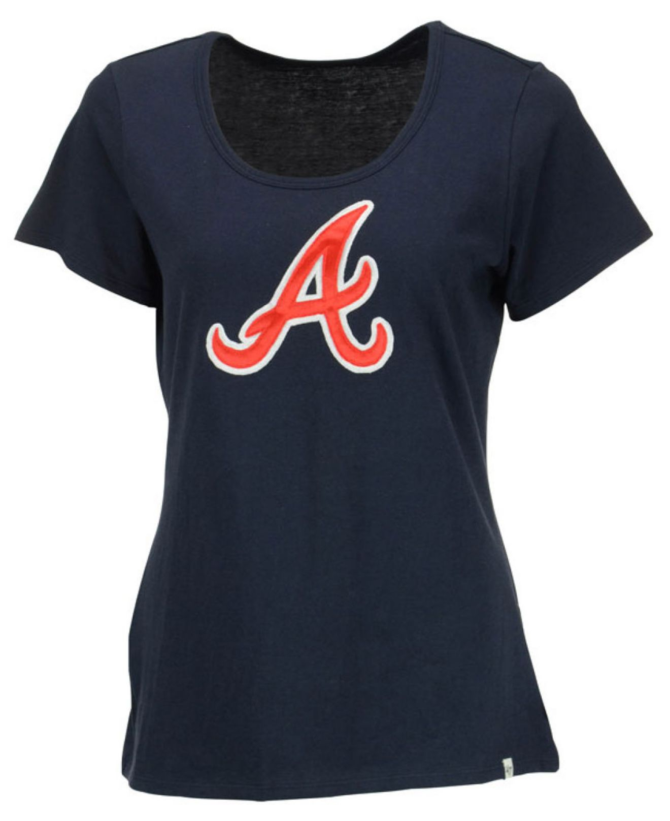 47 brand women 39 s atlanta braves relaxed t shirt in blue lyst. Black Bedroom Furniture Sets. Home Design Ideas