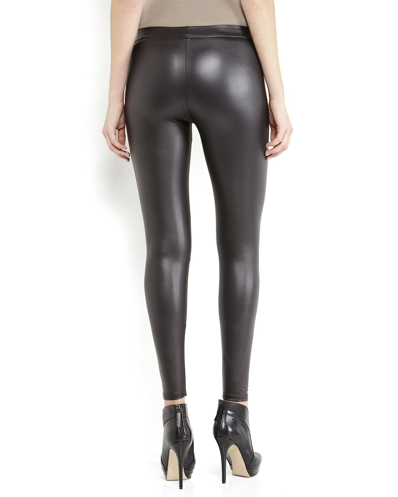 Tag elemental Black Leatherette Leggings in Black