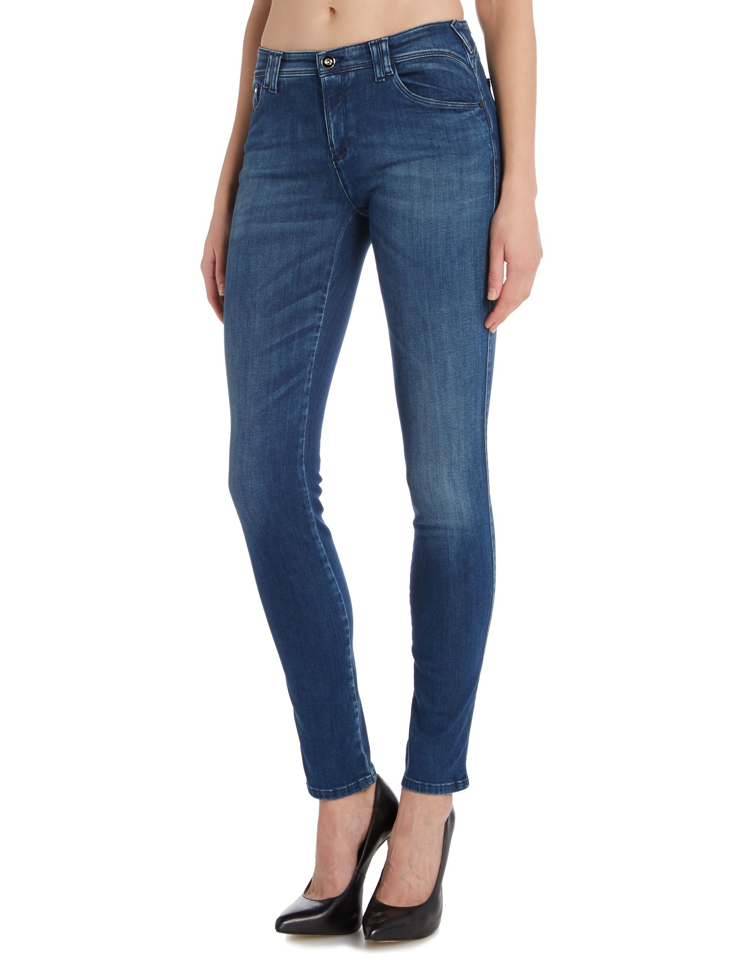 Gallery. Previously sold at: House of Fraser · Women's Balenciaga  Rockabilly Women's Sea Blue Jeans ...