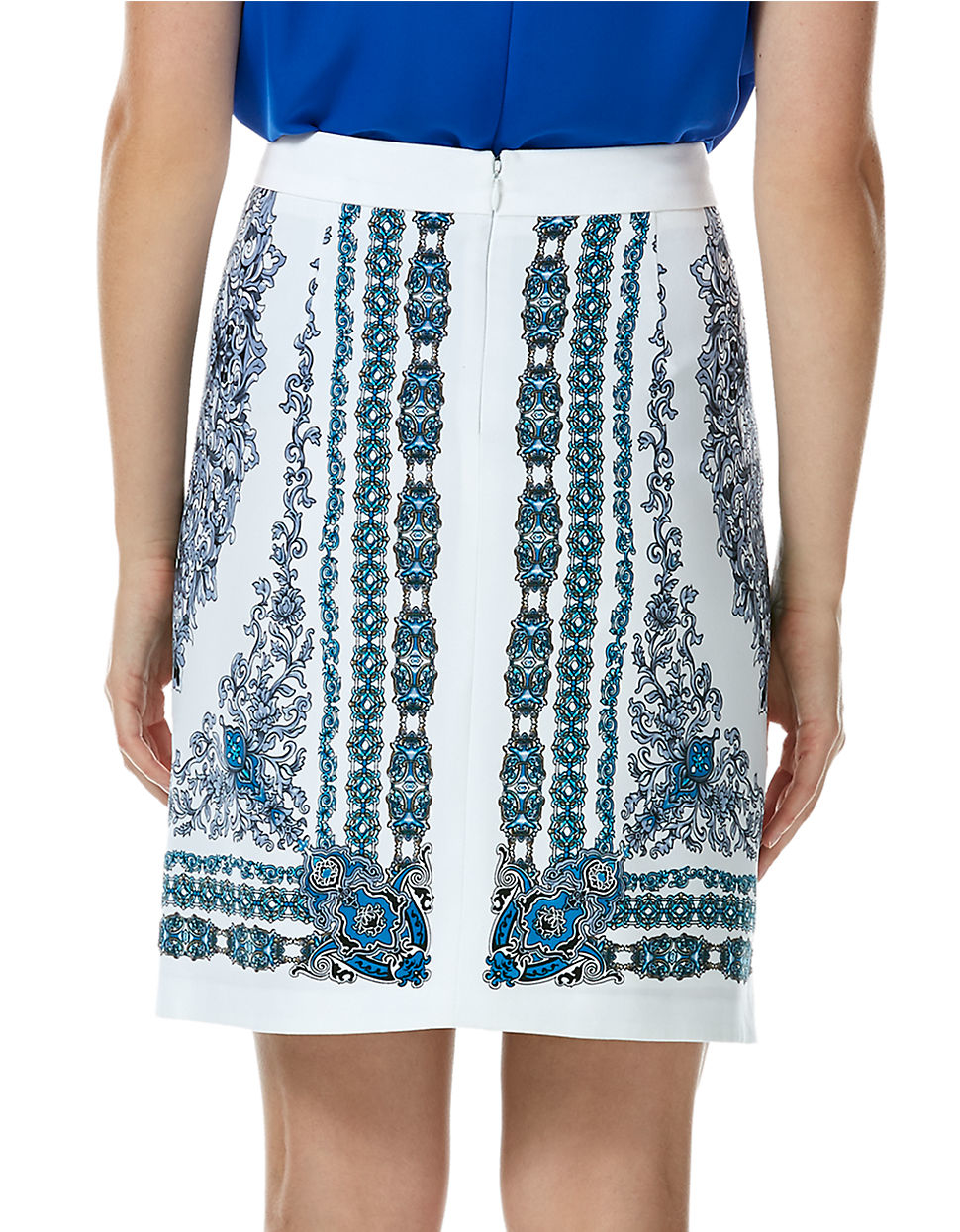 laundry by shelli segal patterned pencil skirt in