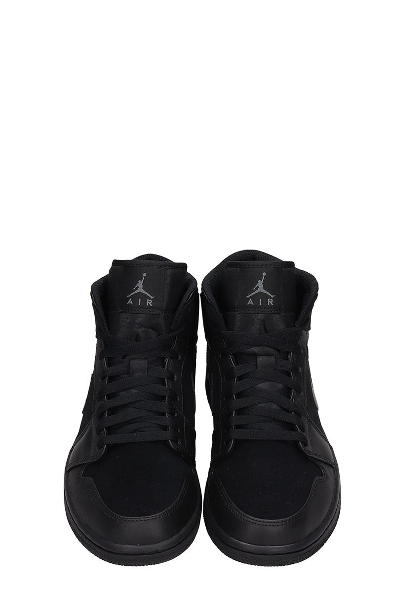 Air Jordan 1 Mid Leather And Suede Sneakers