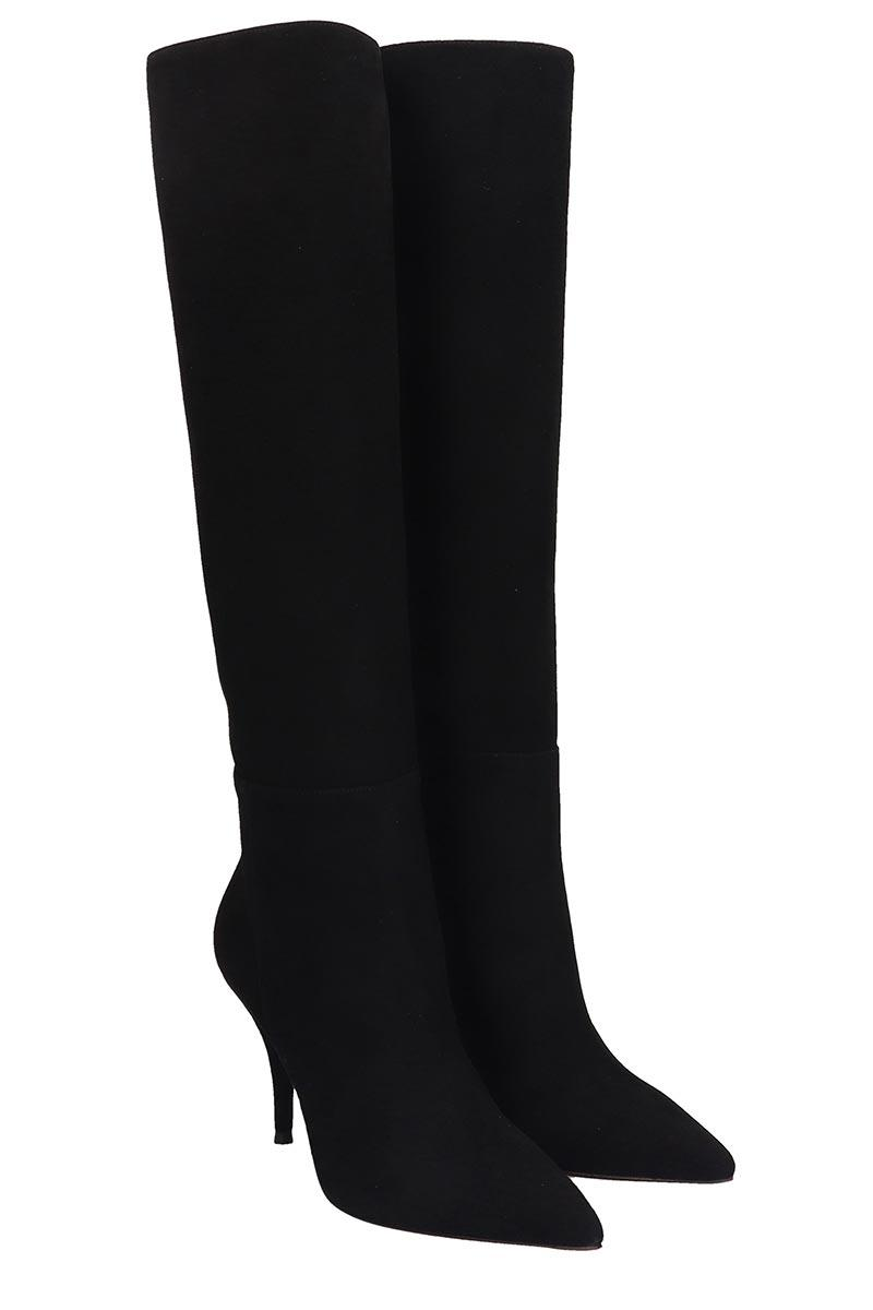 L'Autre Chose Elasticated leather over the knee boots Buy