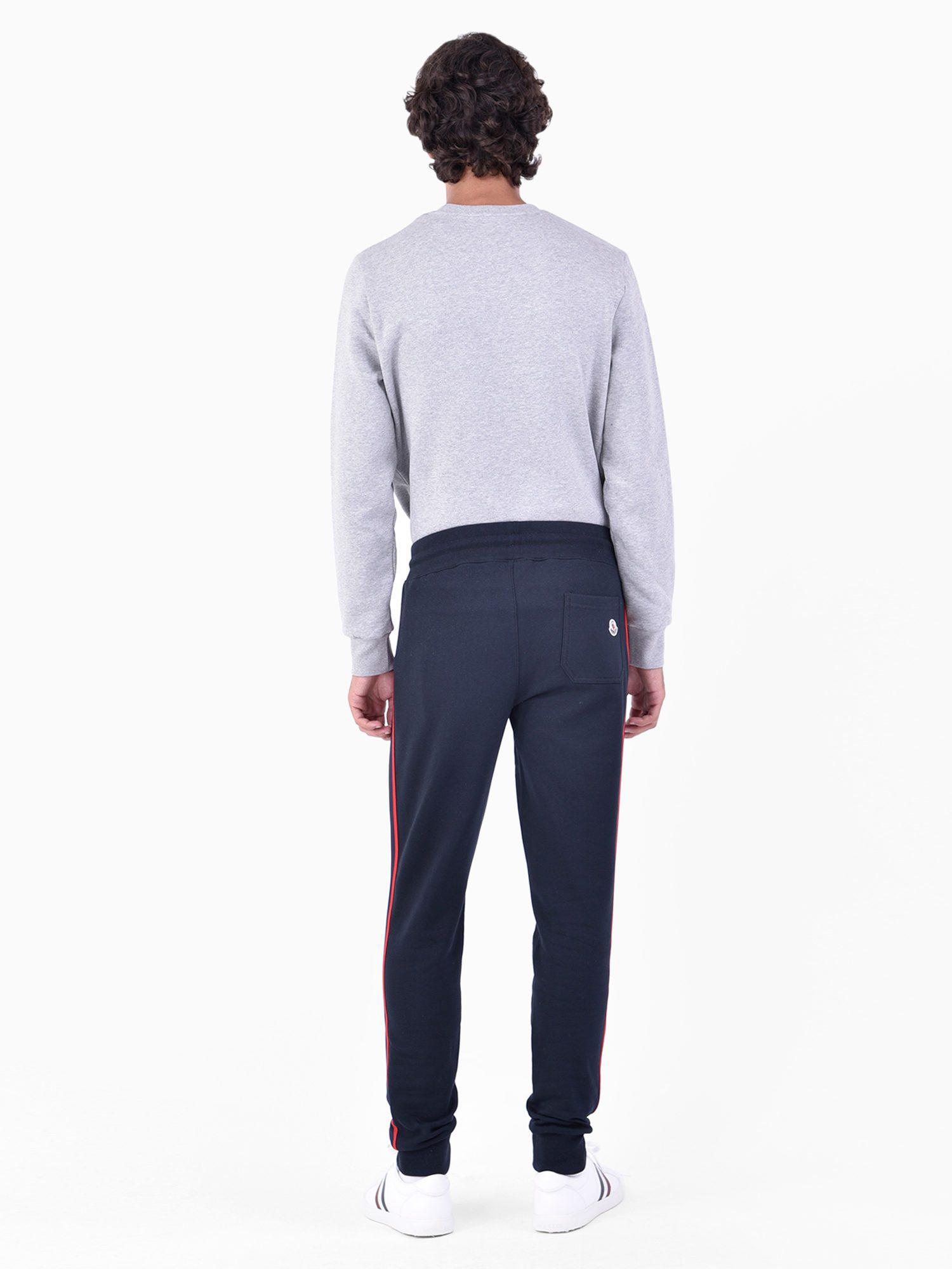 e67dead45 Lyst - Moncler Cotton Trousers in Blue for Men - Save 5%