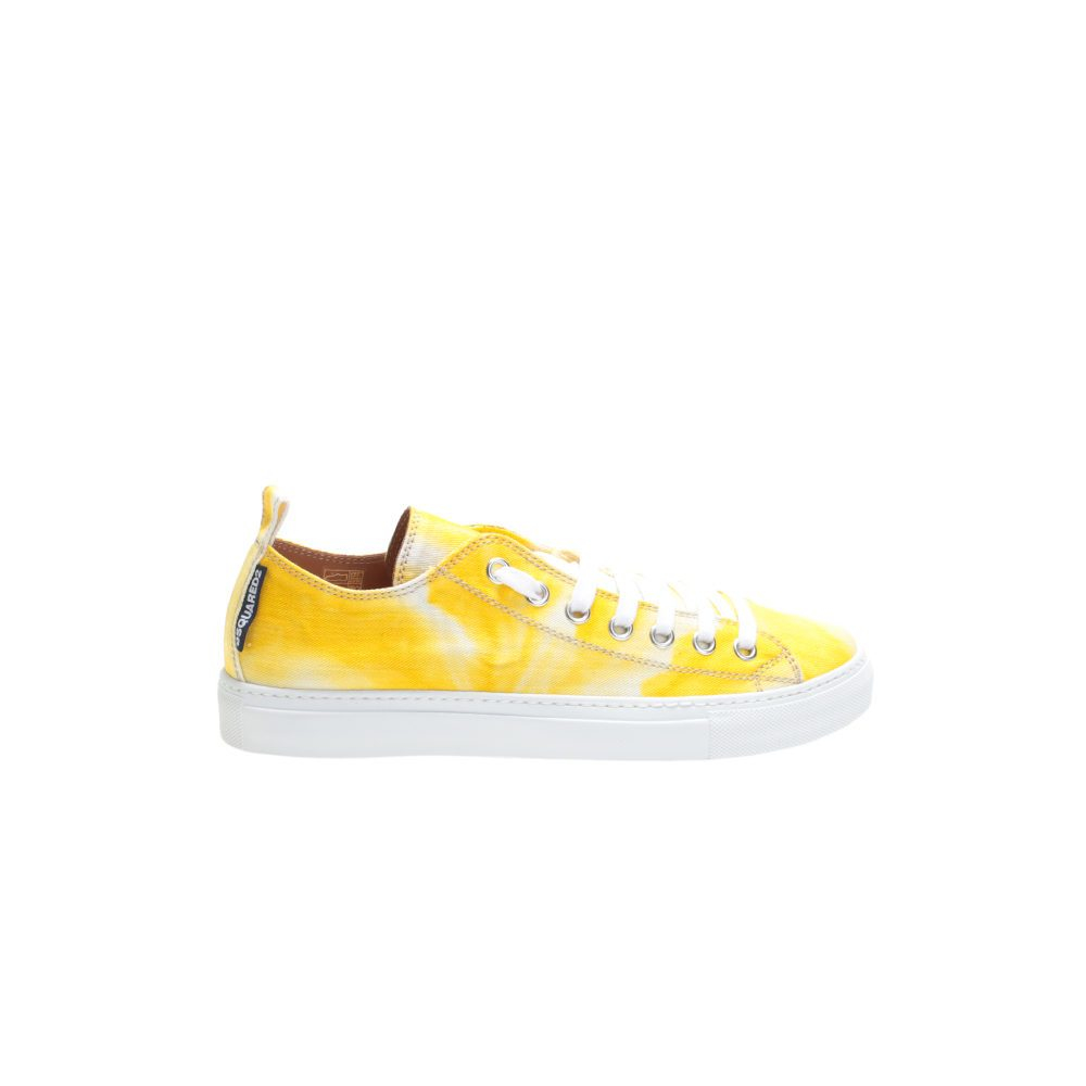dsquared 178 yellow canvas sneakers in yellow lyst
