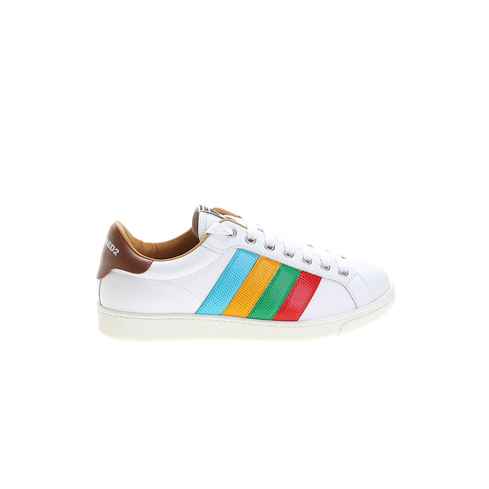 dfedc4d75a6 Dsquared² Leather Santa Monica Sneakers in White for Men
