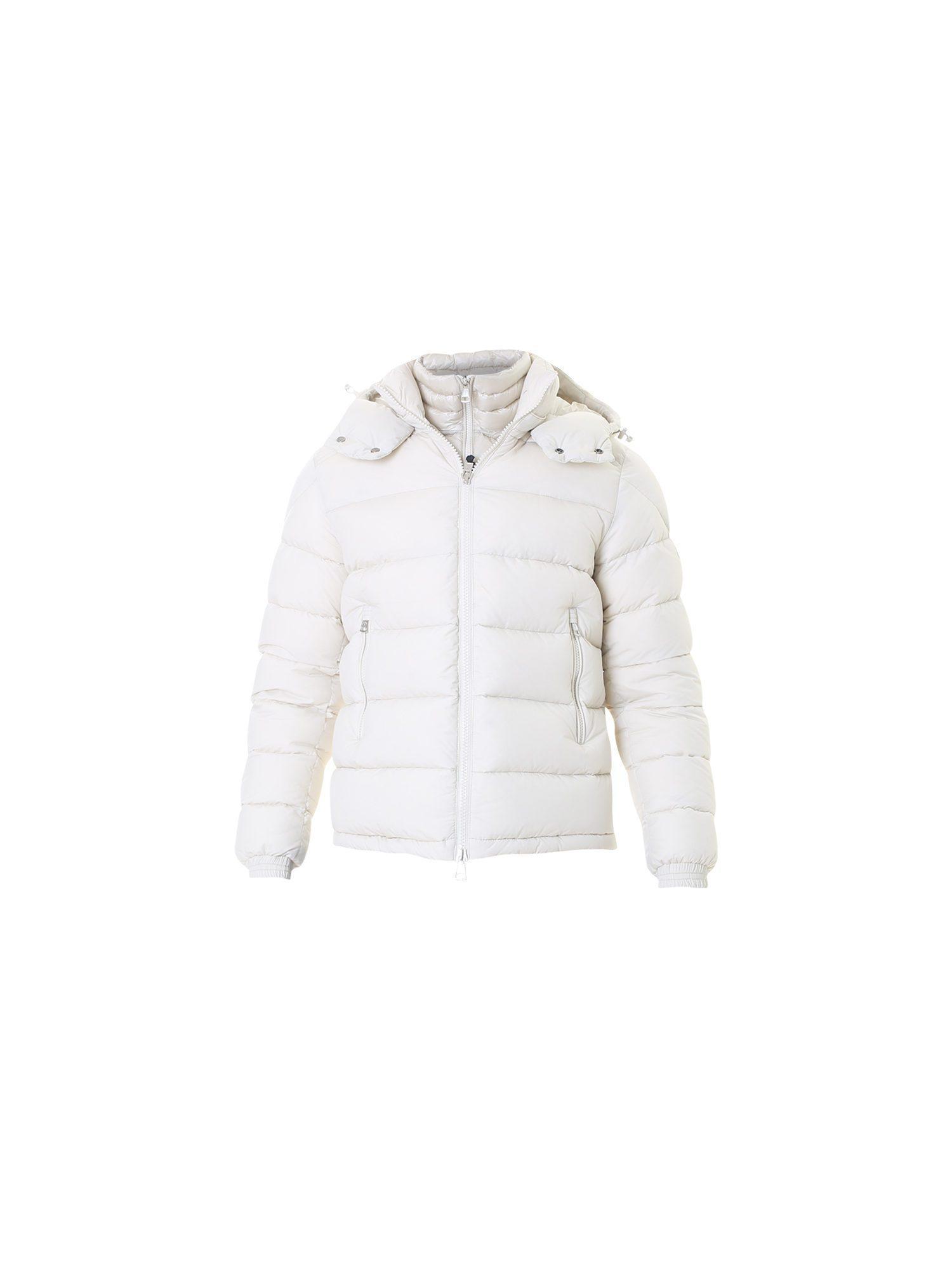 38b47a7402f1 Lyst - Moncler White Nylon Jacket in White for Men
