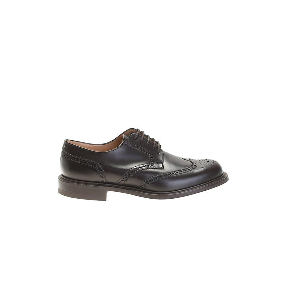 church s black leather derby shoes in black for lyst