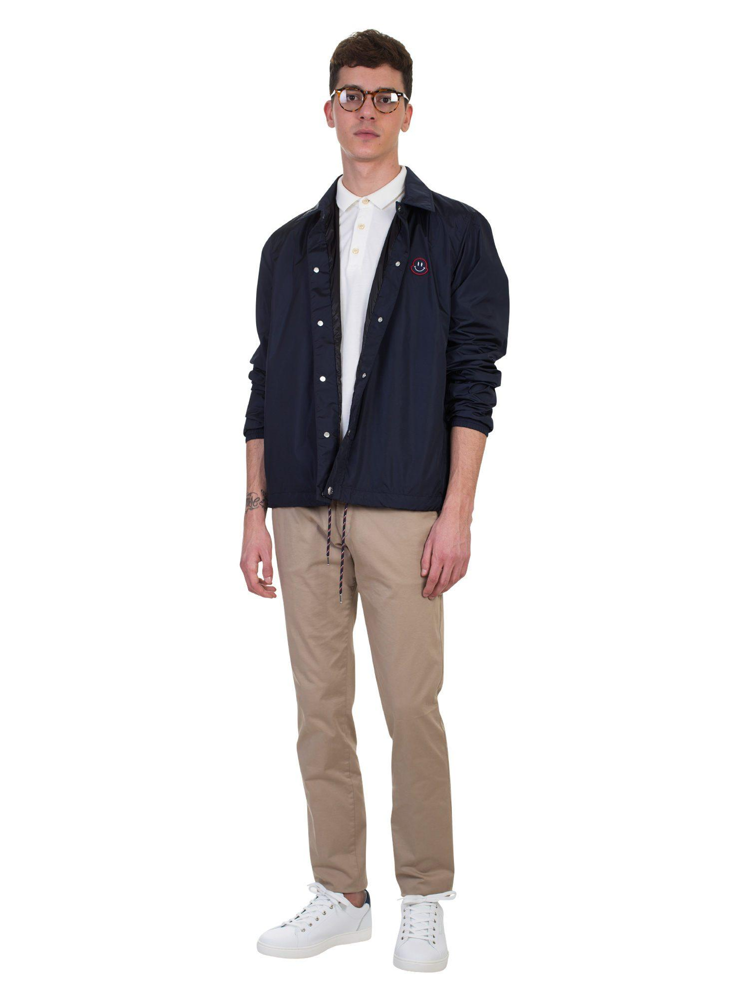 Moncler Synthetic Blue Nylon Agay Jacket for Men