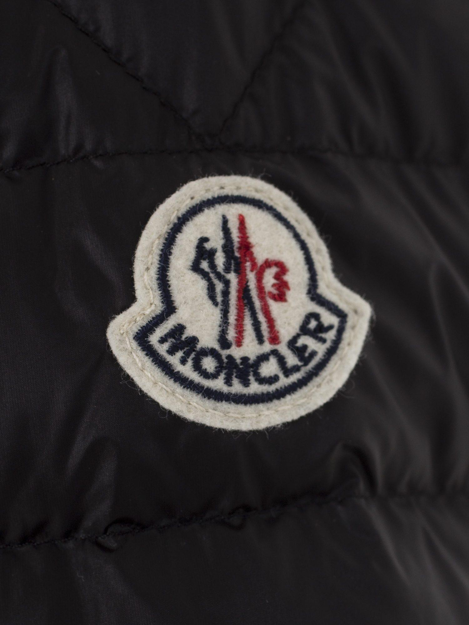 Moncler Synthetic Hooded Bomber Jacket  in Black for Men