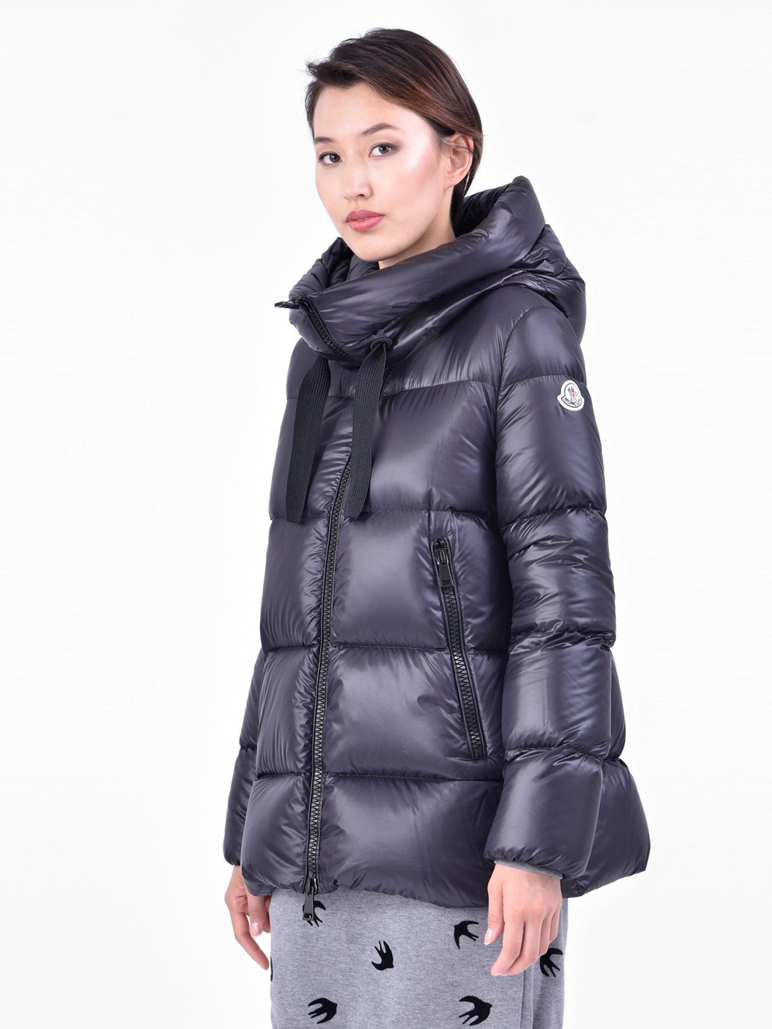 fc9aef5a0 Lyst - Moncler Serin Nylon Padded Jacket in Blue