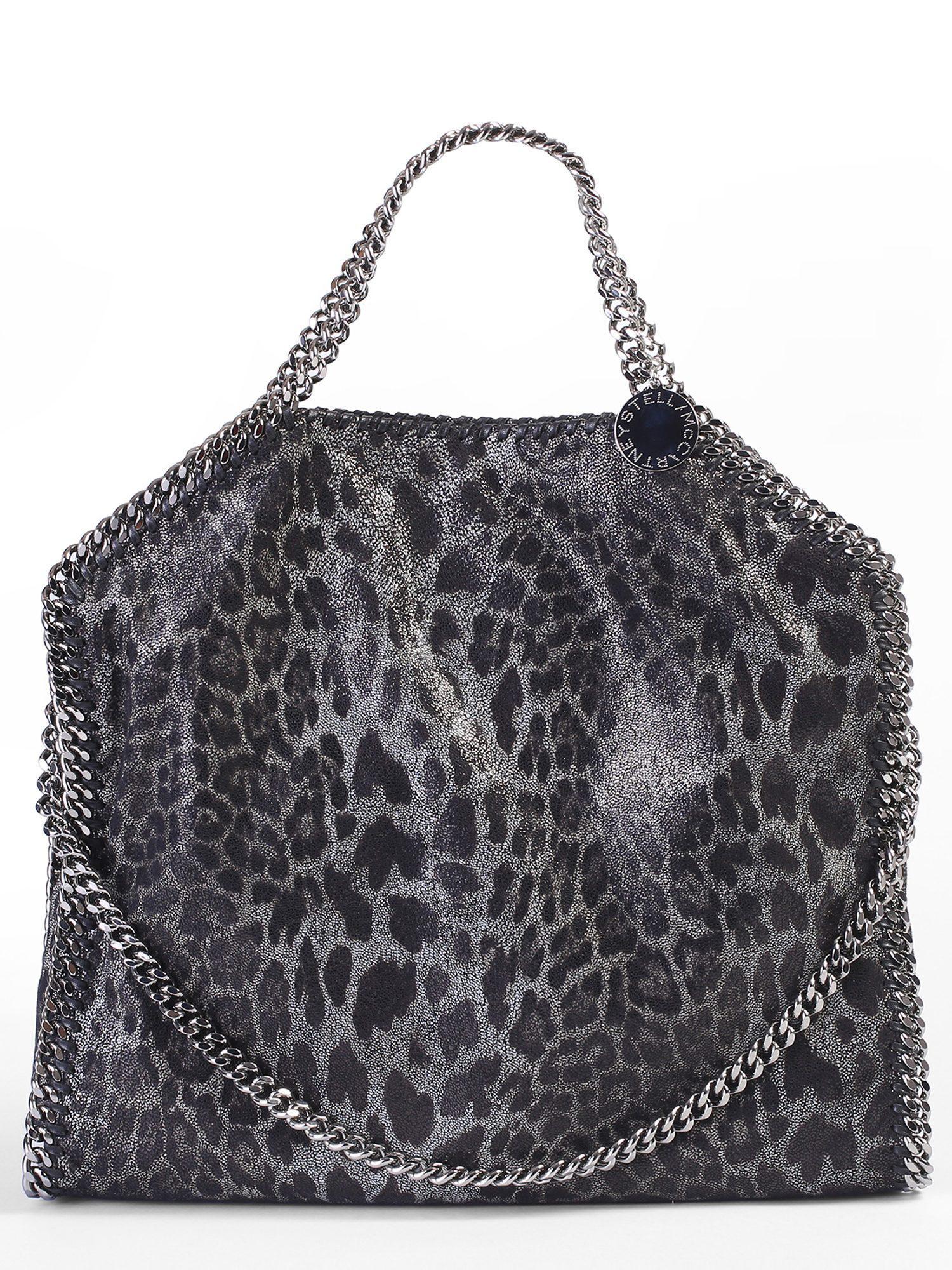 88fc99761efa Lyst - Stella Mccartney Falabella Triple Chain Faux Leather Bag in Black