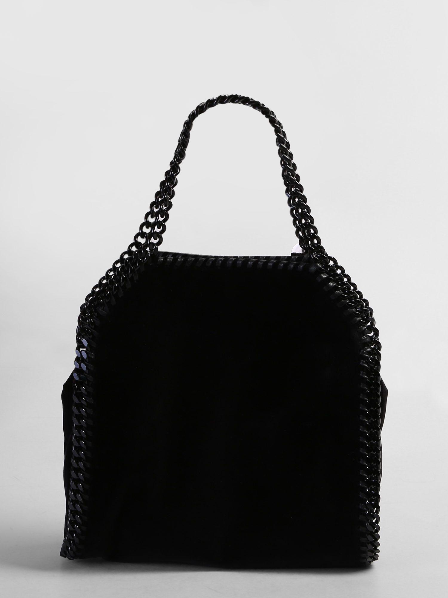Stella McCartney Synthetic Black Chain Mini Tote Falabella