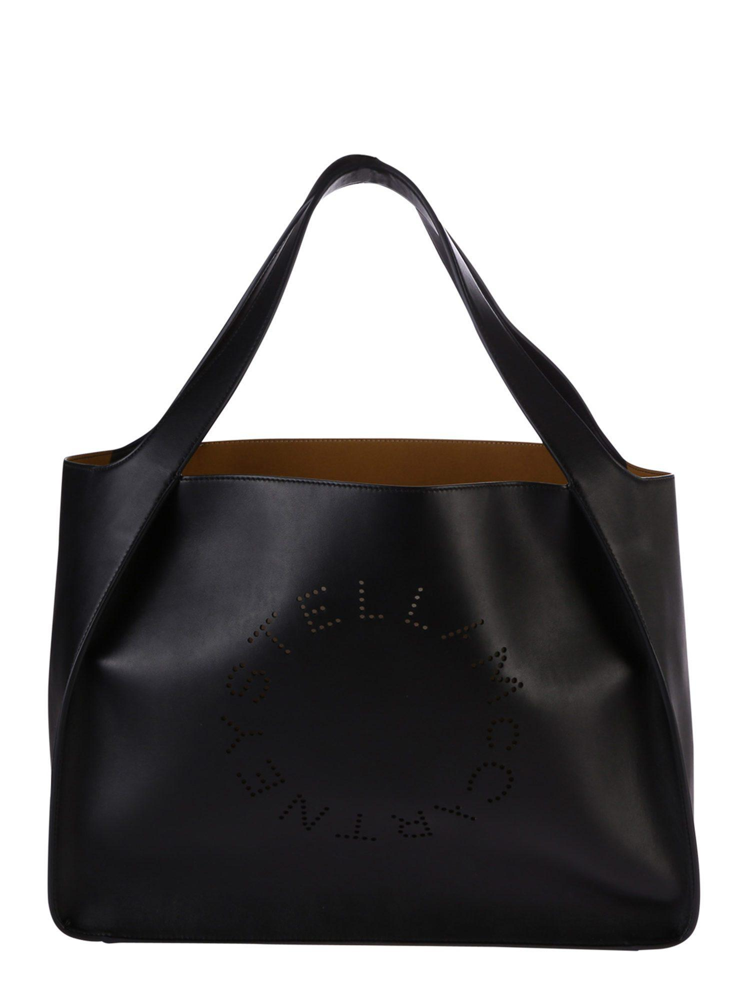 0ba04aed13e99 Lyst - Stella Mccartney Perforated Faux Leather Tote Bag in Black