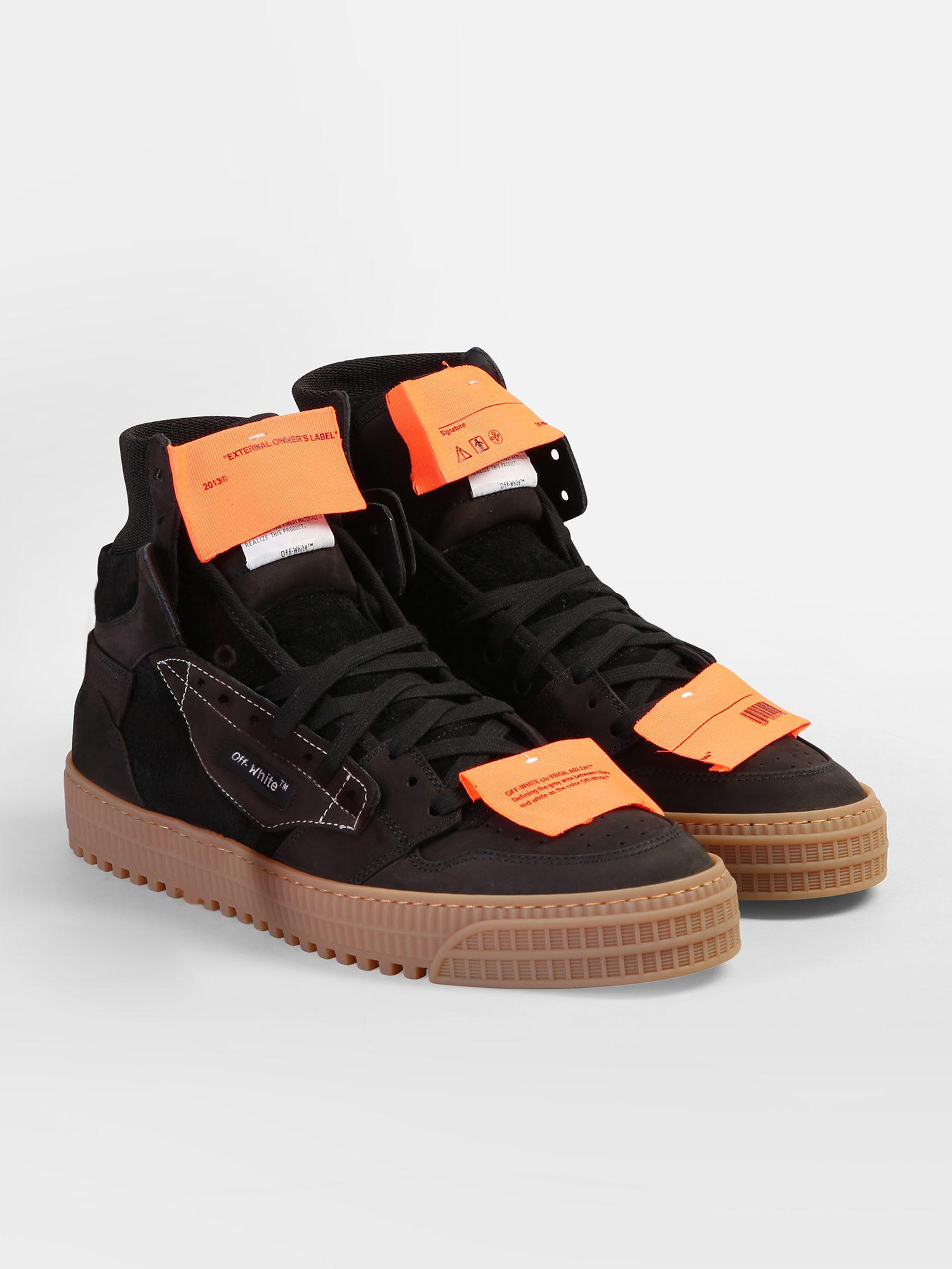 d49a00588242 Off-White C O Virgil Abloh Off Court Suede Leather Sneakers in Black for Men  - Lyst
