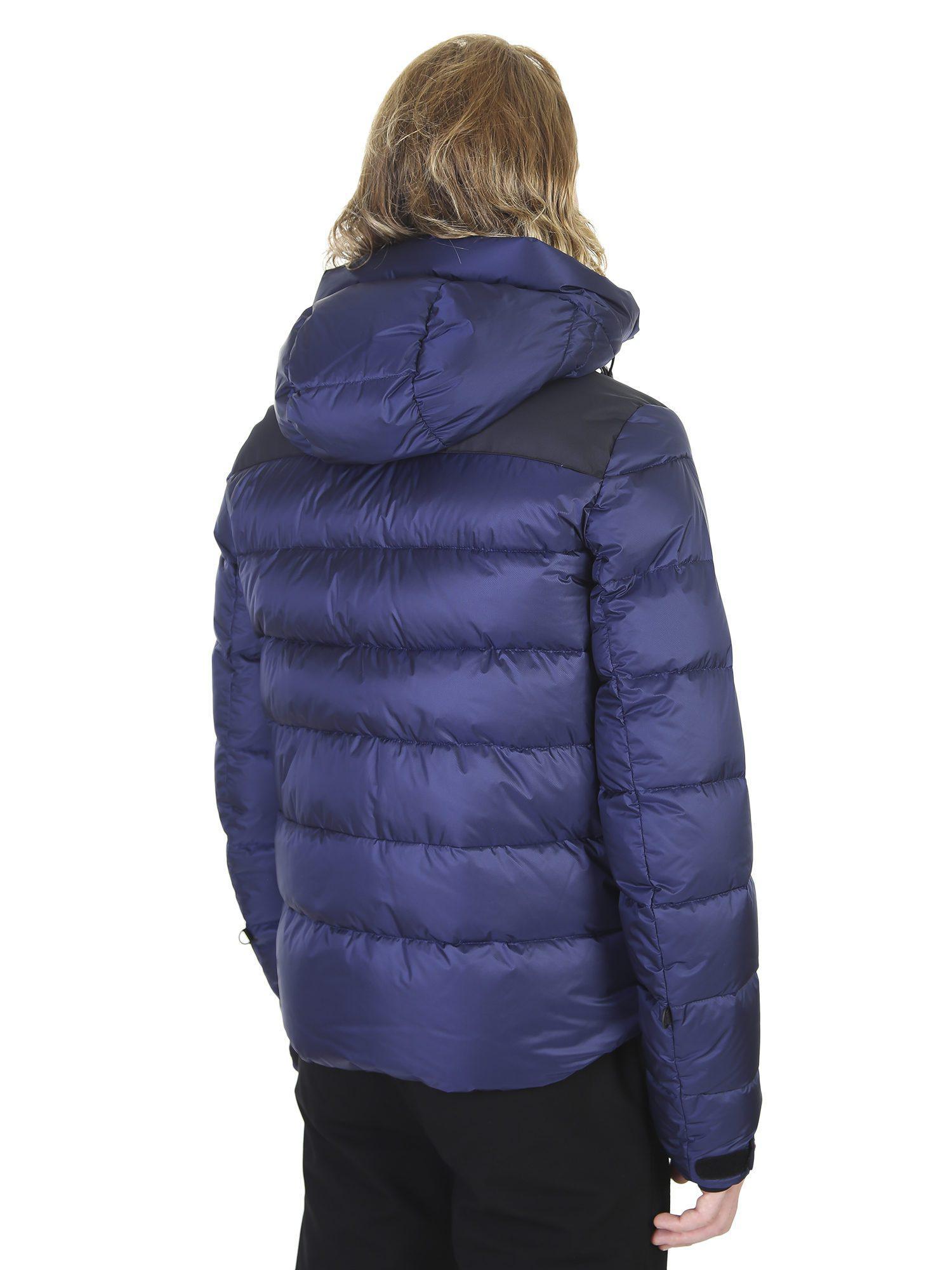885b65fca0ac7 Lyst - Moncler Grenoble Padded Nylon Hood Jacket in Blue for Men