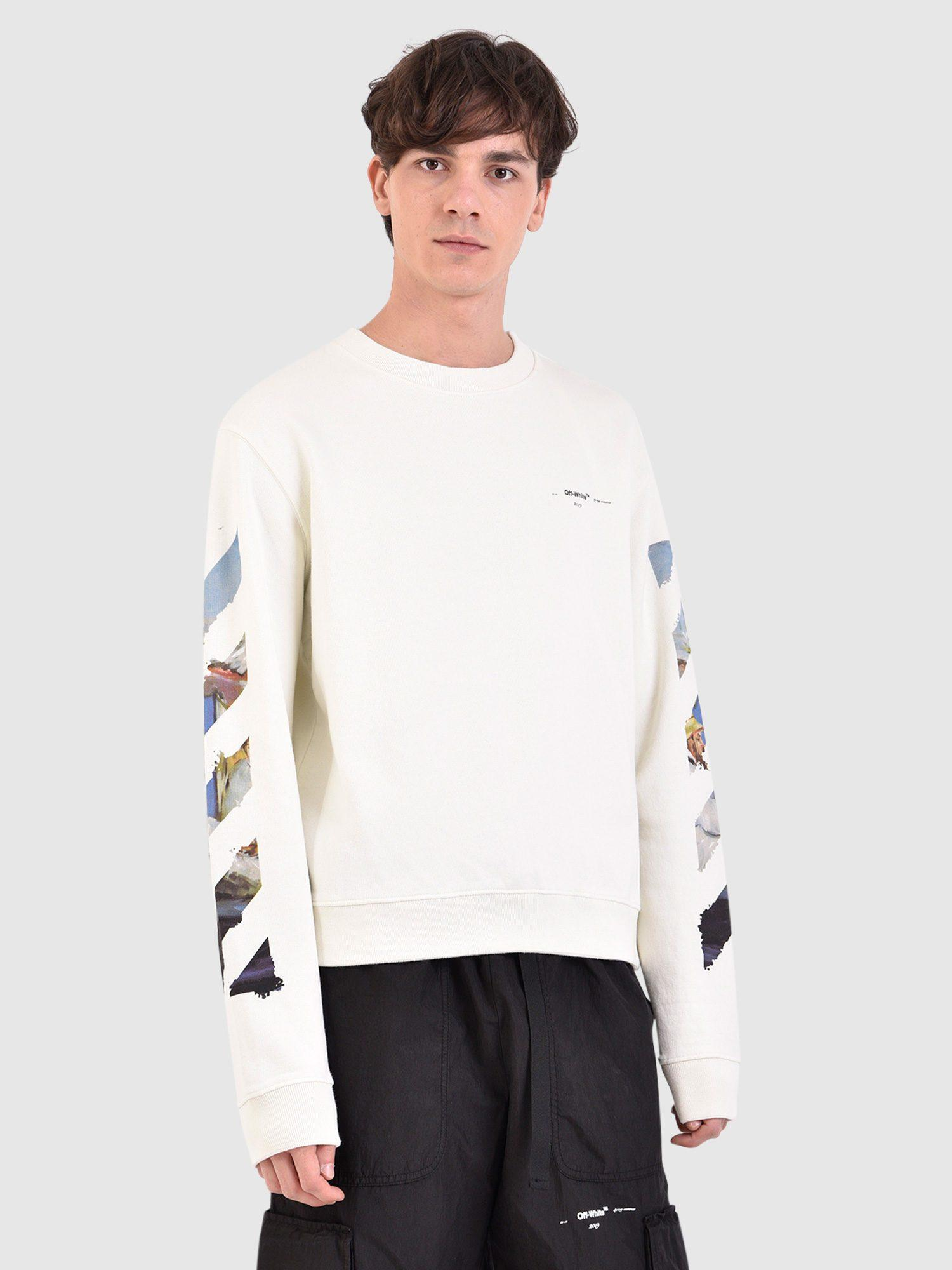 a1fa24627499 Lyst - Off-White c o Virgil Abloh Printed Cotton Sweatshirt in White