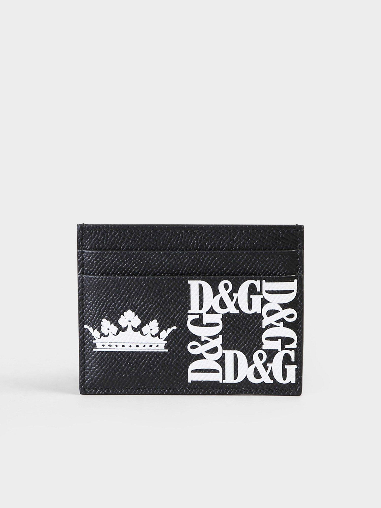 728e726f67 Dolce & Gabbana Printed Leather Card Holder in Black for Men - Lyst