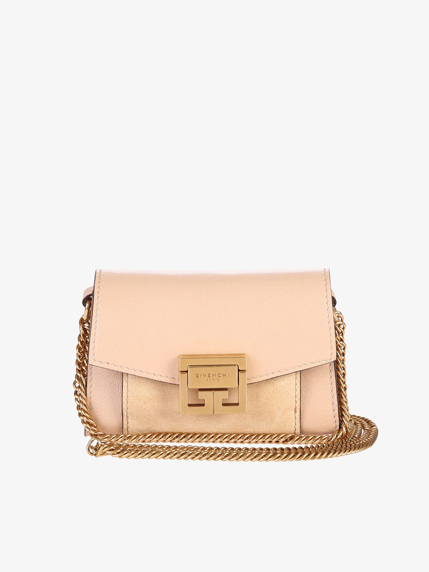 0a9fcf97a3eb Lyst - Givenchy Nano Gv3 Leather Bag