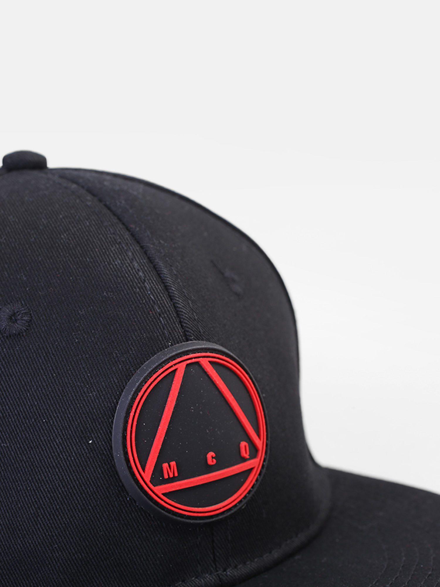 Lyst - Mcq Alexander Mcqueen Logo Insert Cotton Baseball Hat in Blue ... ff46e17649aa