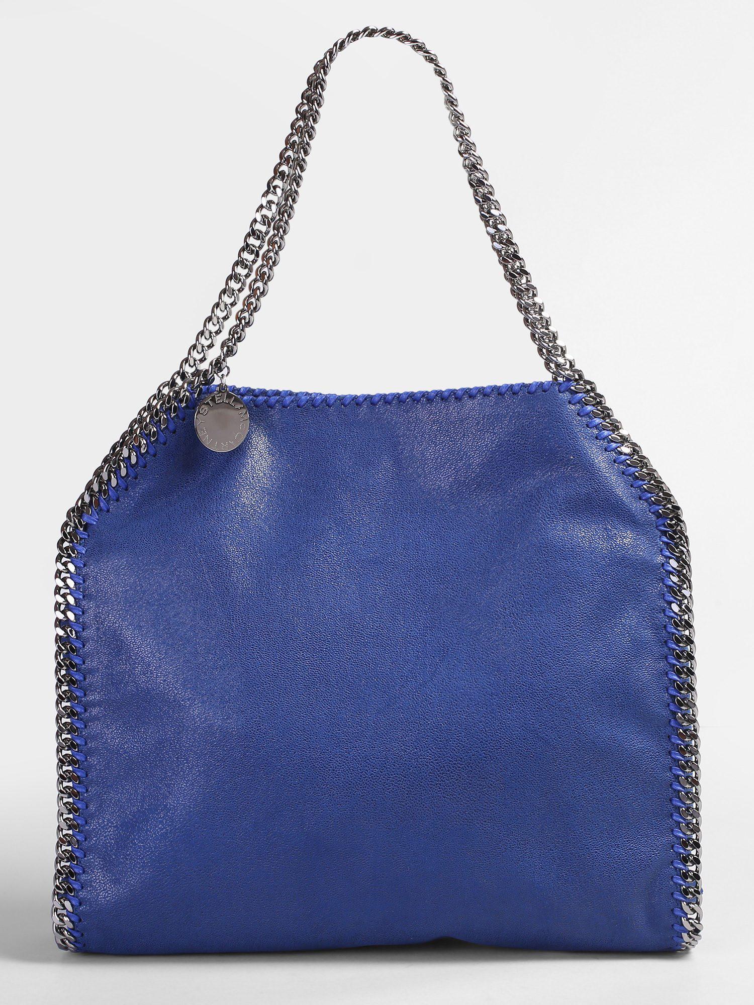 Stella McCartney. Women s Blue Falabella Small Double Chain Faux Leather  Tote c54b59f7b4385