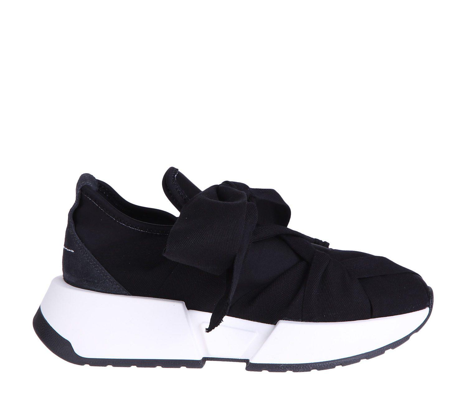 Mm6 By Crisscrossing Sneakers Blue Margiela In Ribbon Maison Martin edBoCx