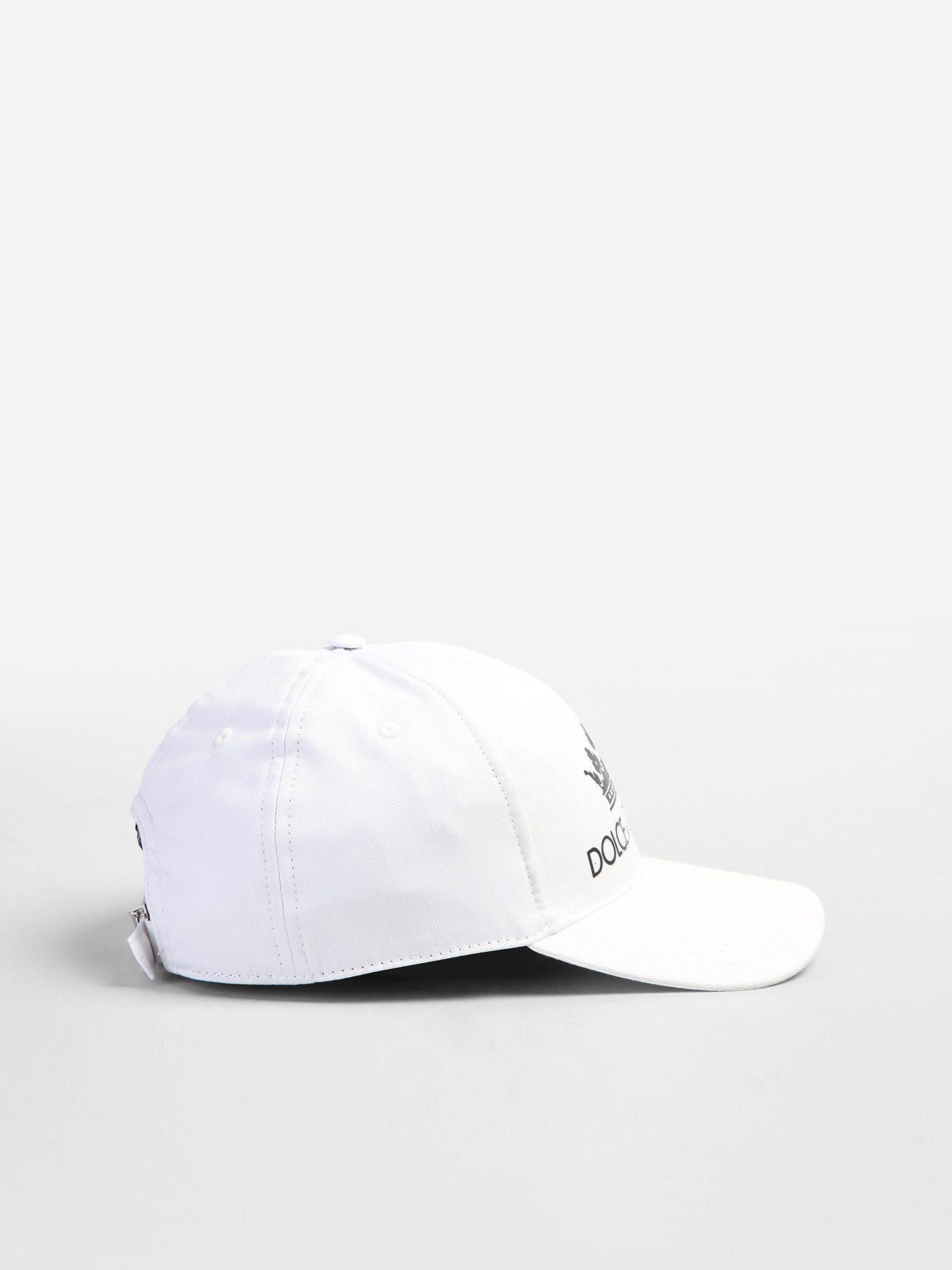 5e7e5ffb31b Lyst - Dolce   Gabbana Printed Baseball Hat in White for Men - Save 5%