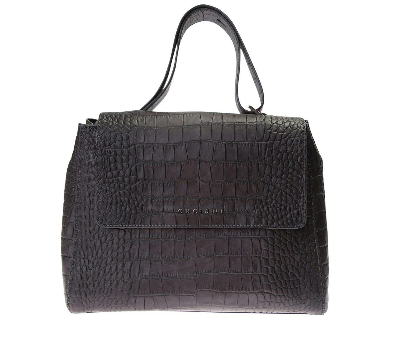 Lyst - Orciani Sveva Small Leather Tote Bag in Black 961880800d994