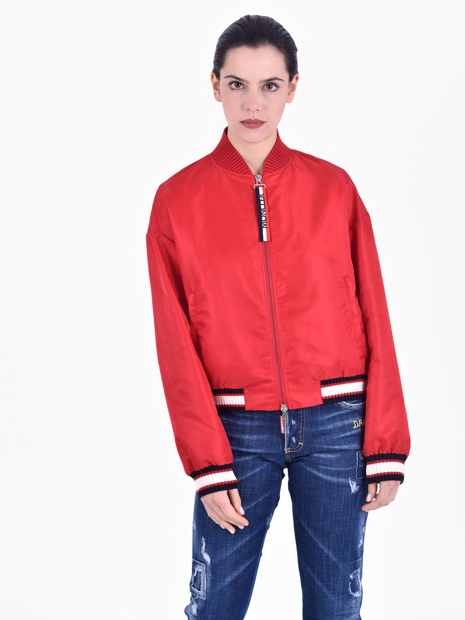49bc99247ec2 Lyst - Moncler Actinote Nylon Bomber Jacket in Red